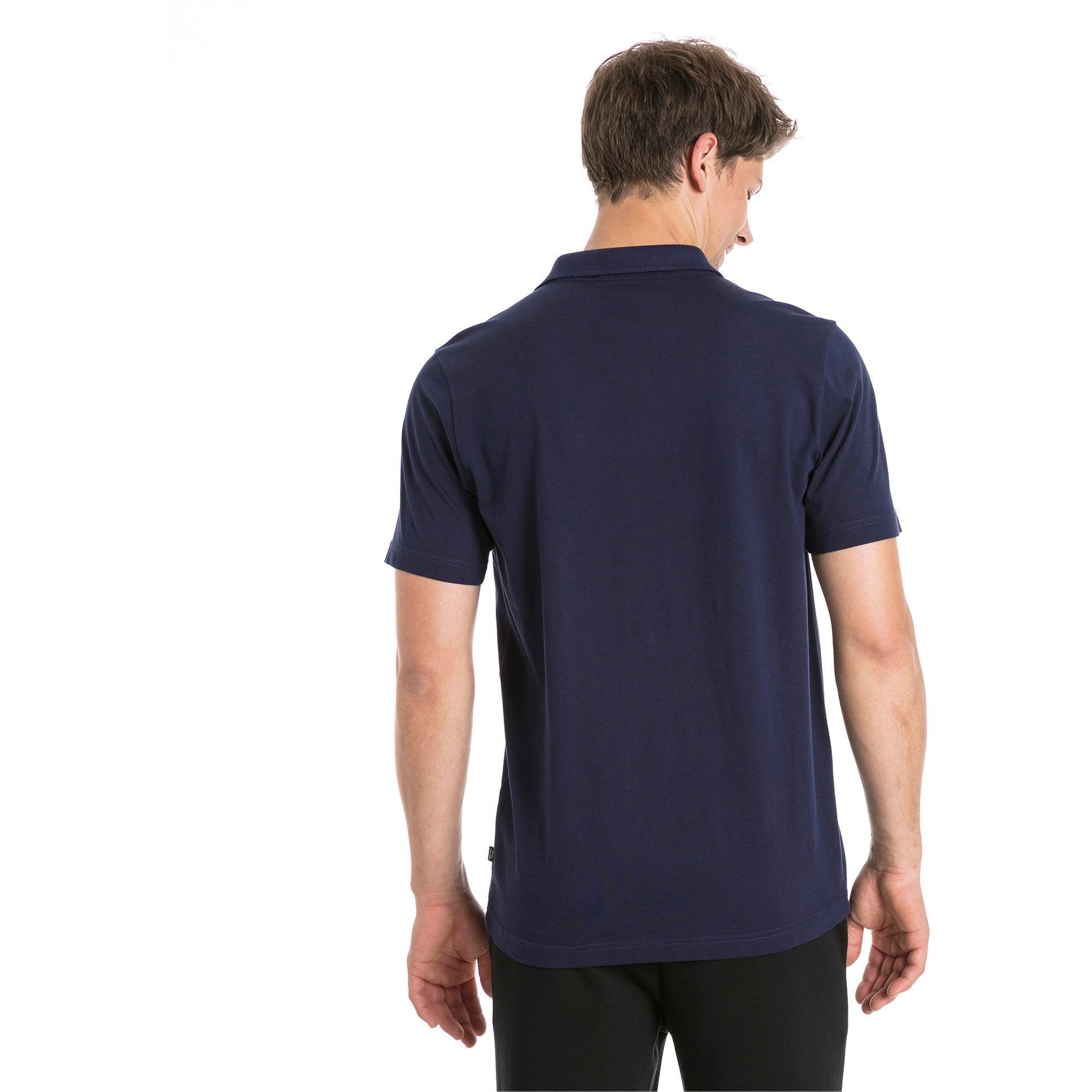 Thumbnail 2 of Polo in jersey Essentials uomo, Peacoat, medium