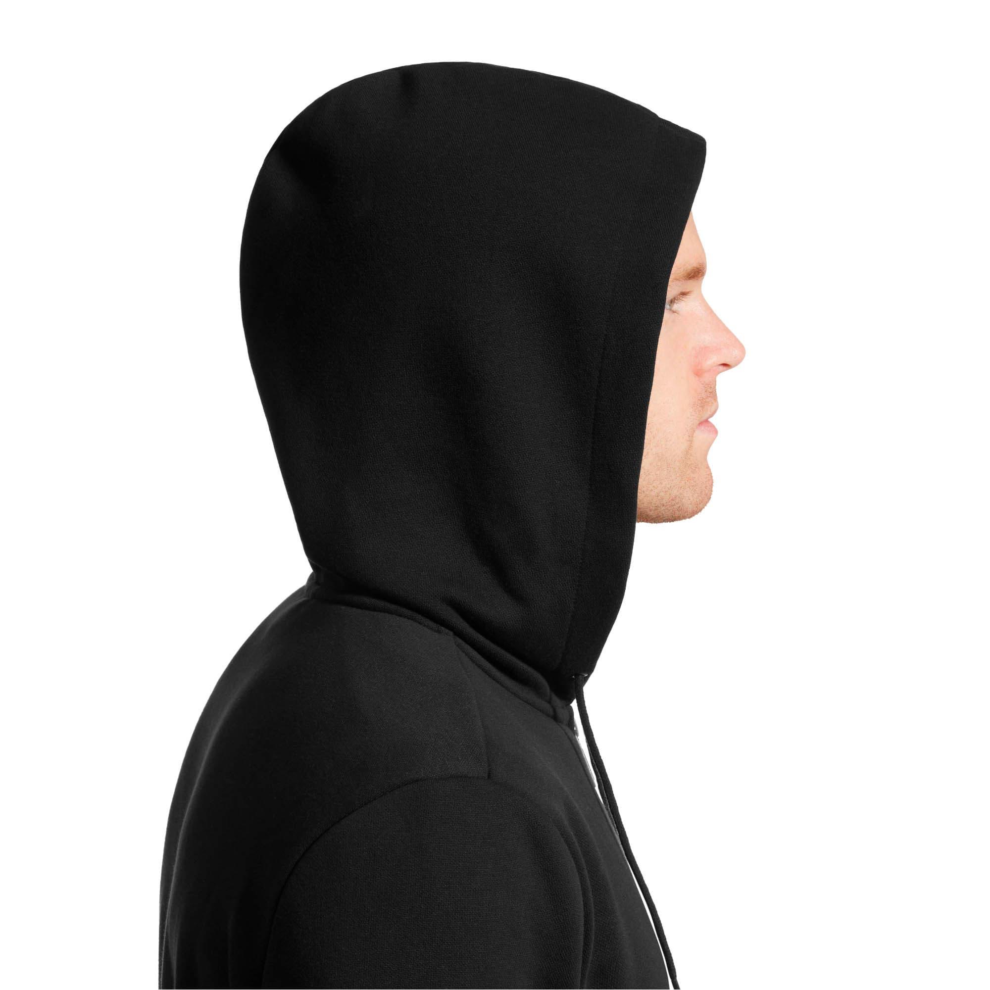 Thumbnail 6 of Essentials Men's Hooded Fleece Jacket, Puma Black, medium