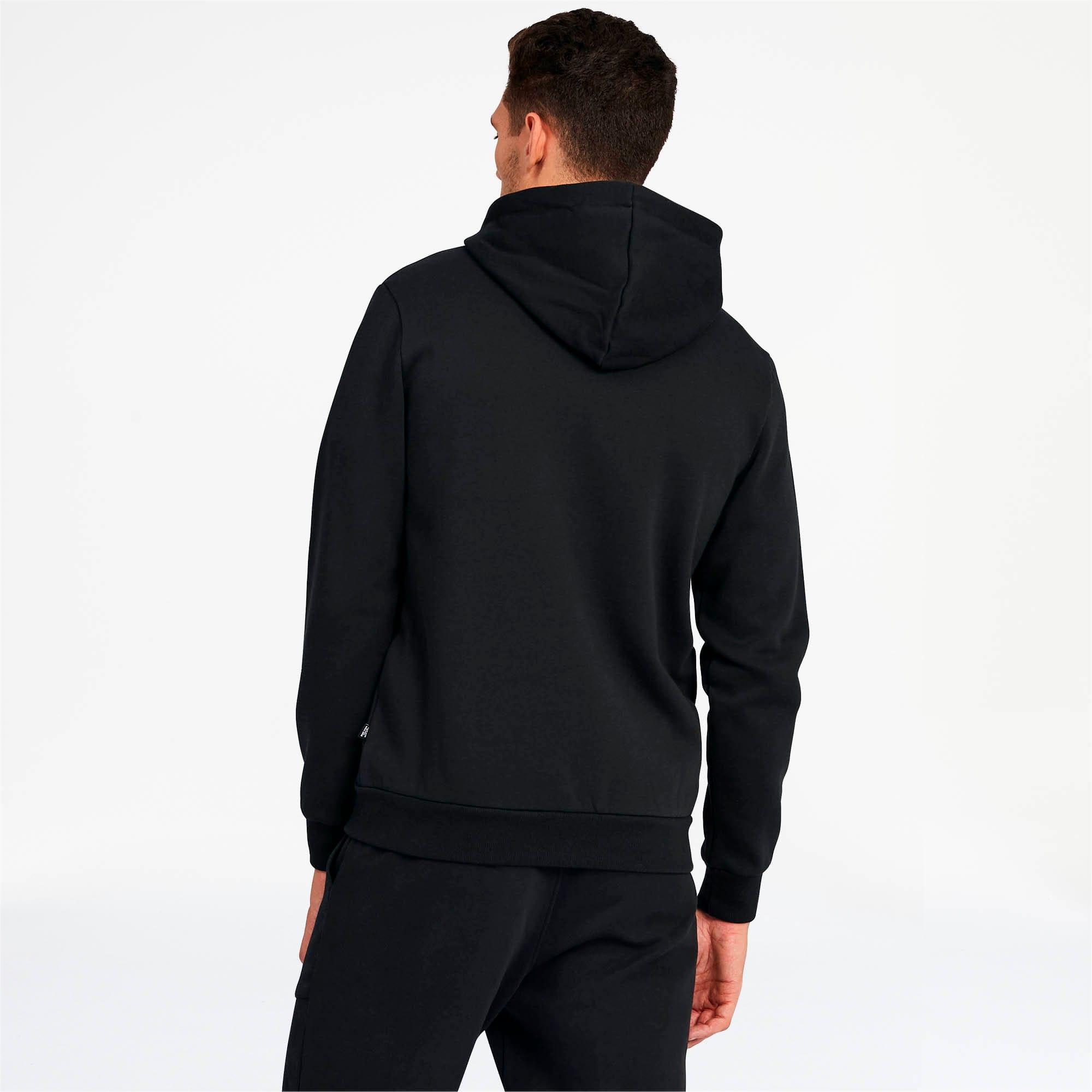 Thumbnail 2 of Essentials Men's Hooded Fleece Jacket, Puma Black, medium