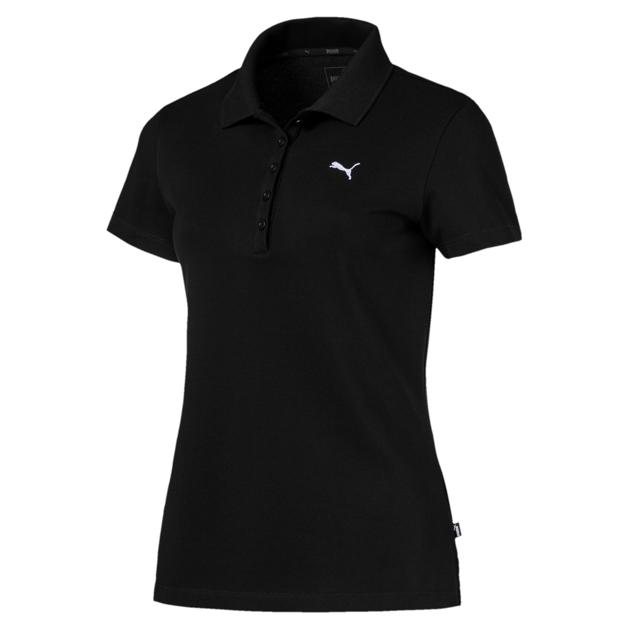 Thumbnail 1 of Essentials Women's Polo, Cotton Black-Cat, medium