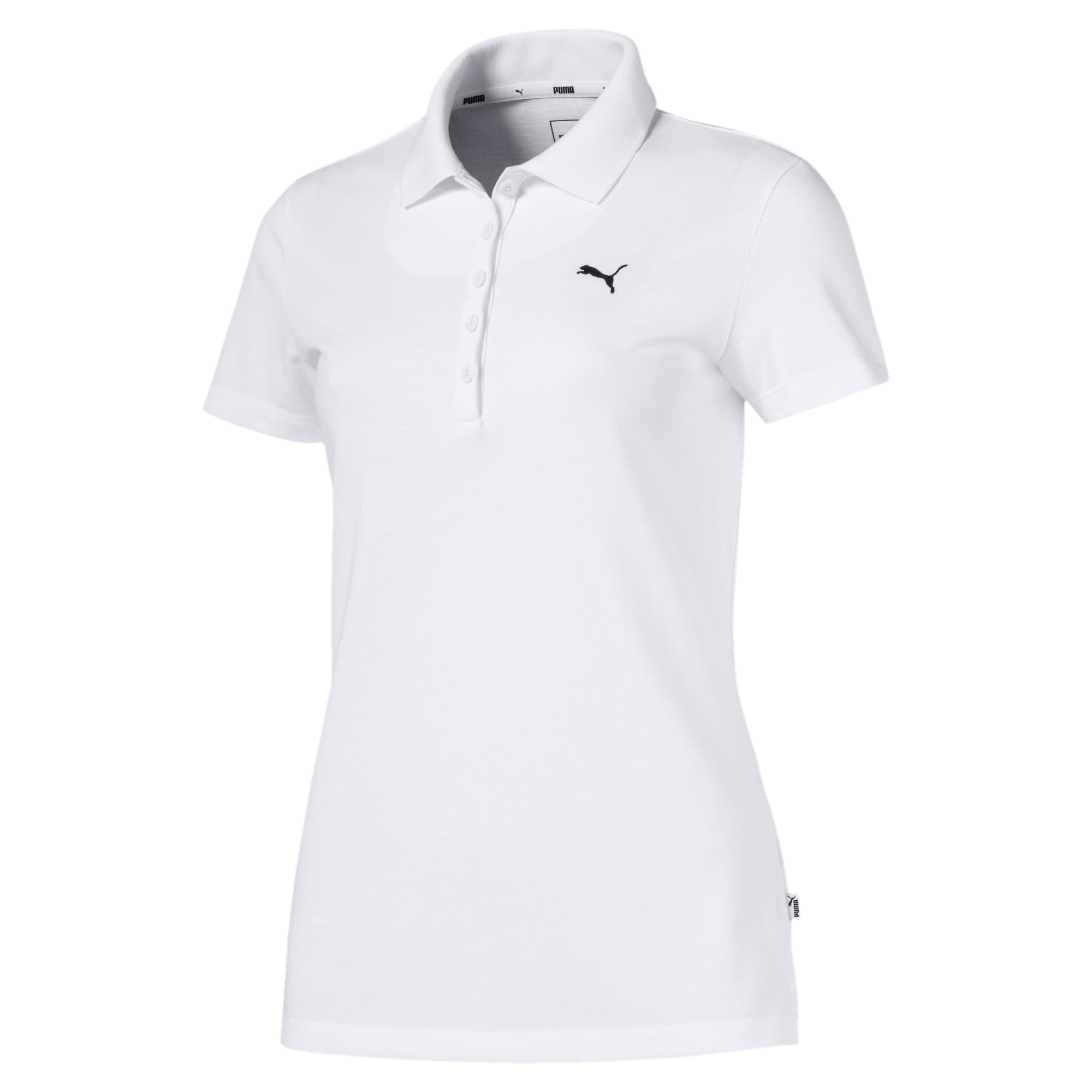 Essentials Women's Polo, Puma White-Cat, large