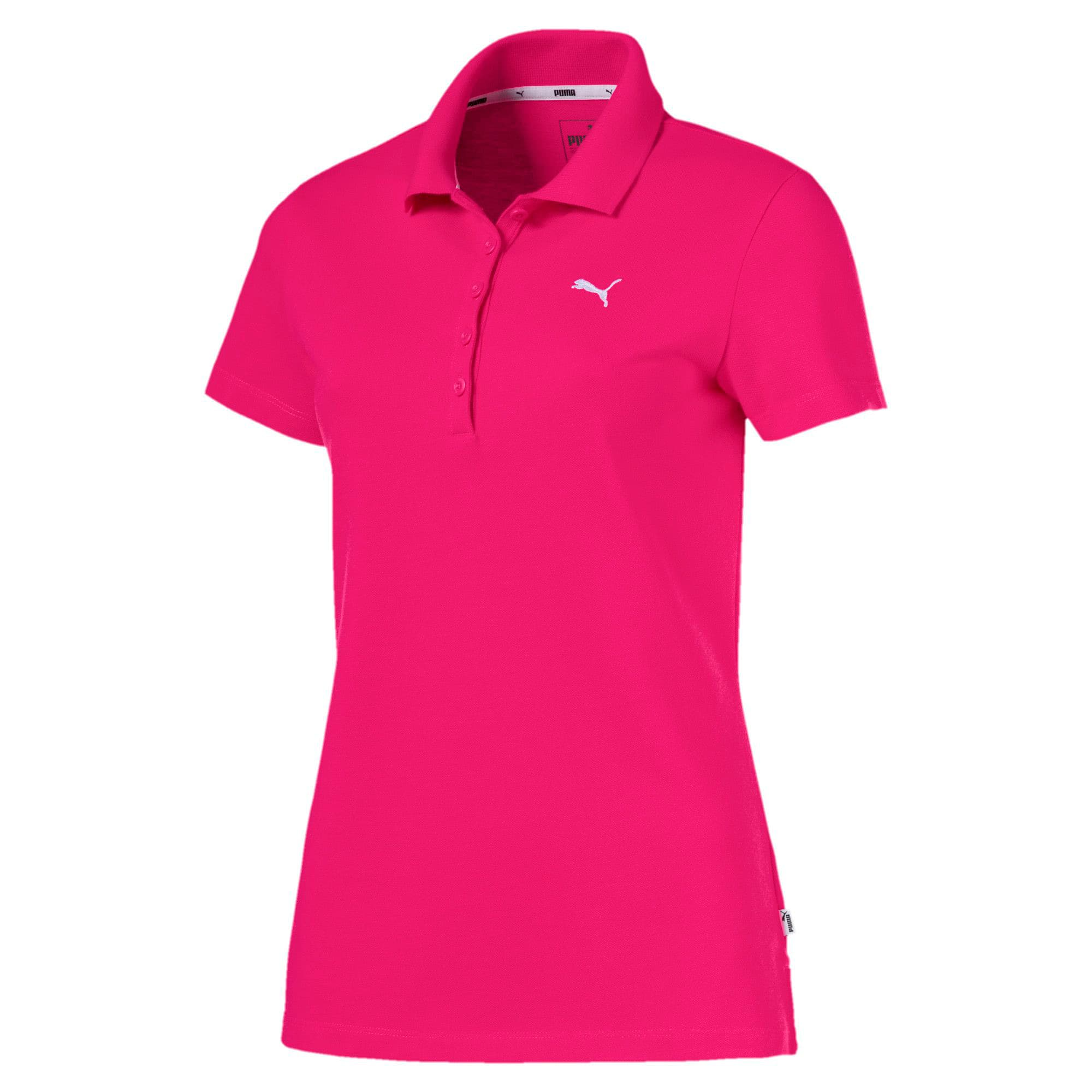 Thumbnail 4 of Essentials Women's Polo, Beetroot Purple-Cat, medium