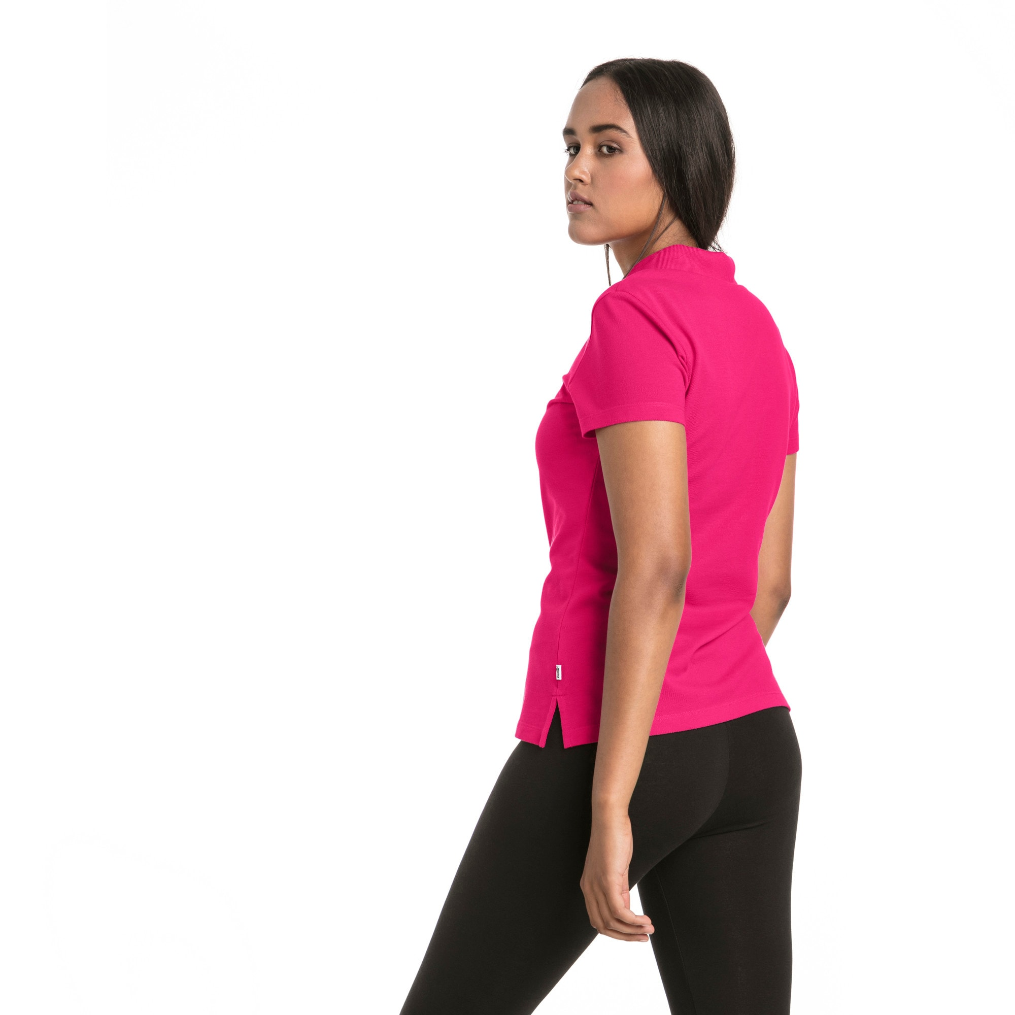 Thumbnail 2 of Essentials Women's Polo, Beetroot Purple-Cat, medium