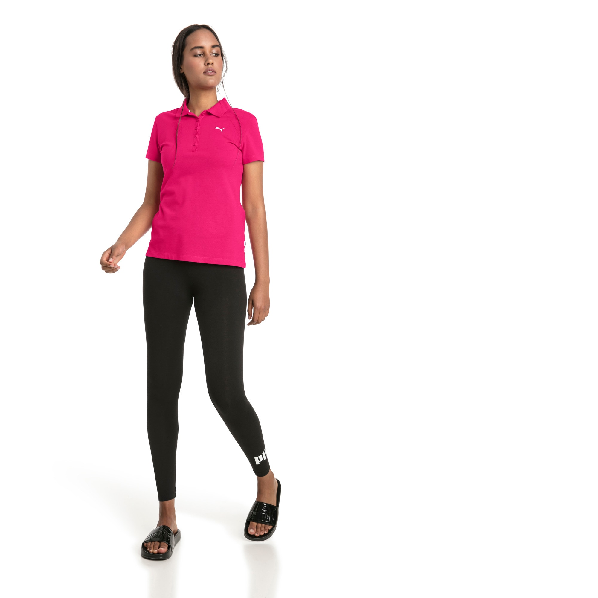 Thumbnail 3 of Essentials Women's Polo, Beetroot Purple-Cat, medium