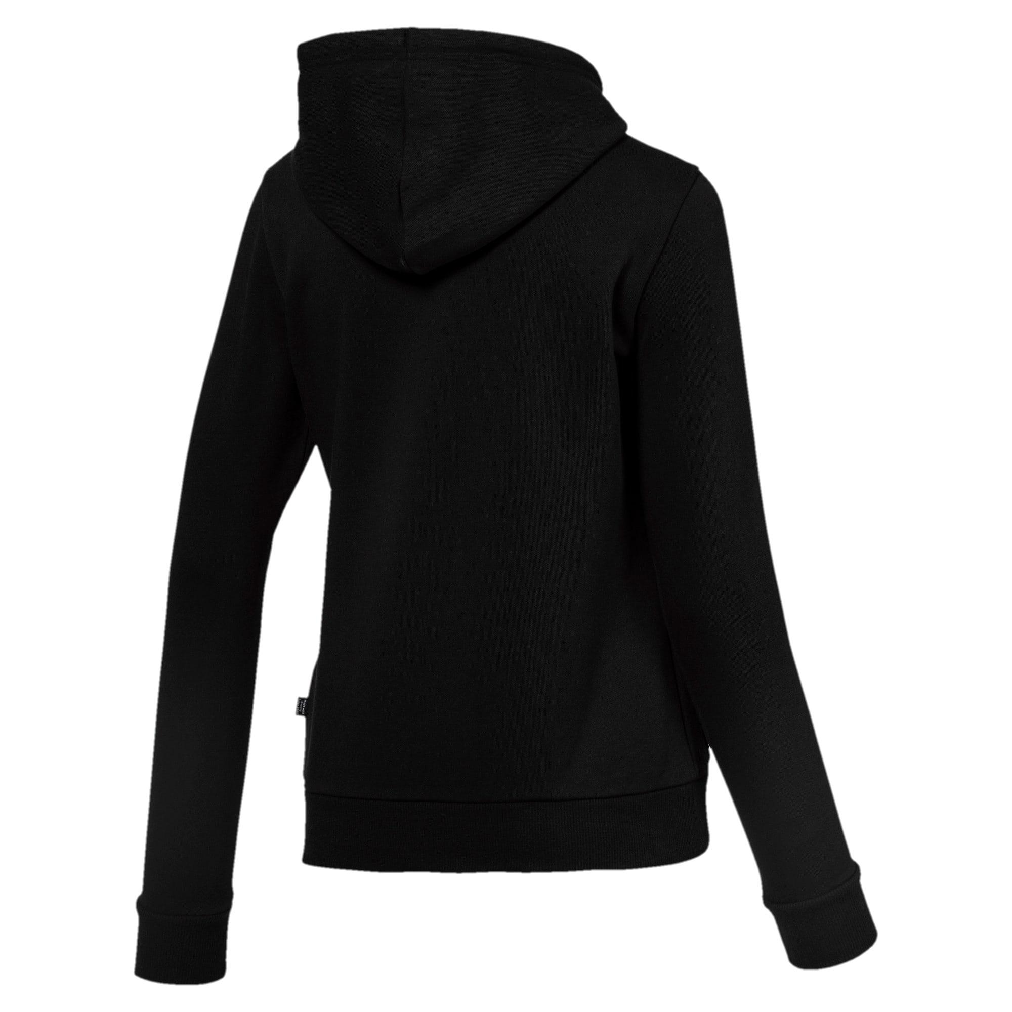 Thumbnail 5 of Essentials Fleece hoodie voor dames, Cotton Black, medium