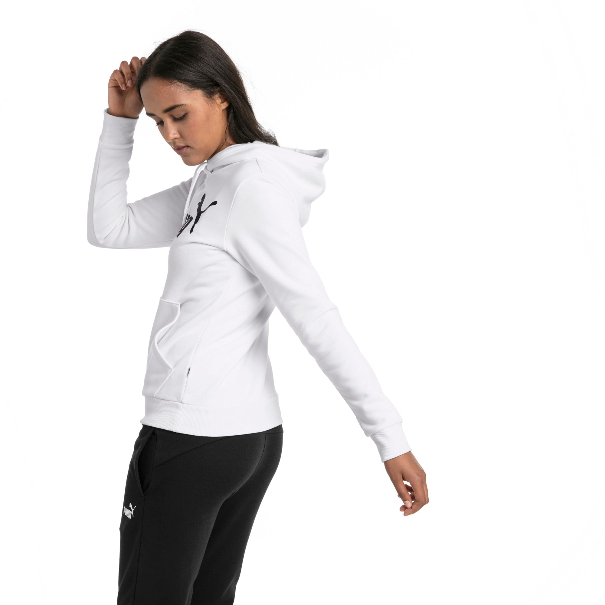 Thumbnail 2 of Essentials Damen Fleece Hoodie, Puma White, medium