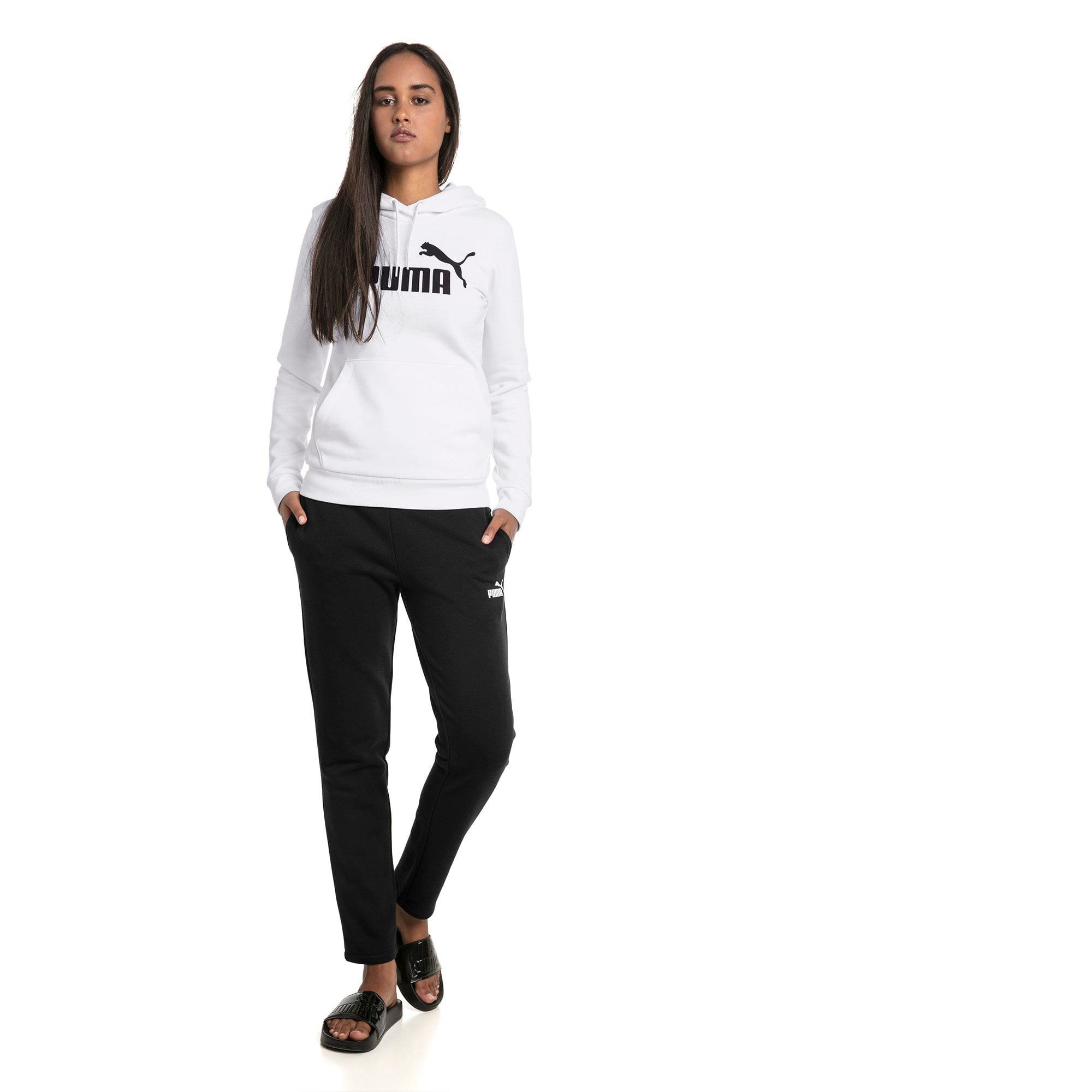 Thumbnail 3 of Essentials Damen Fleece Hoodie, Puma White, medium