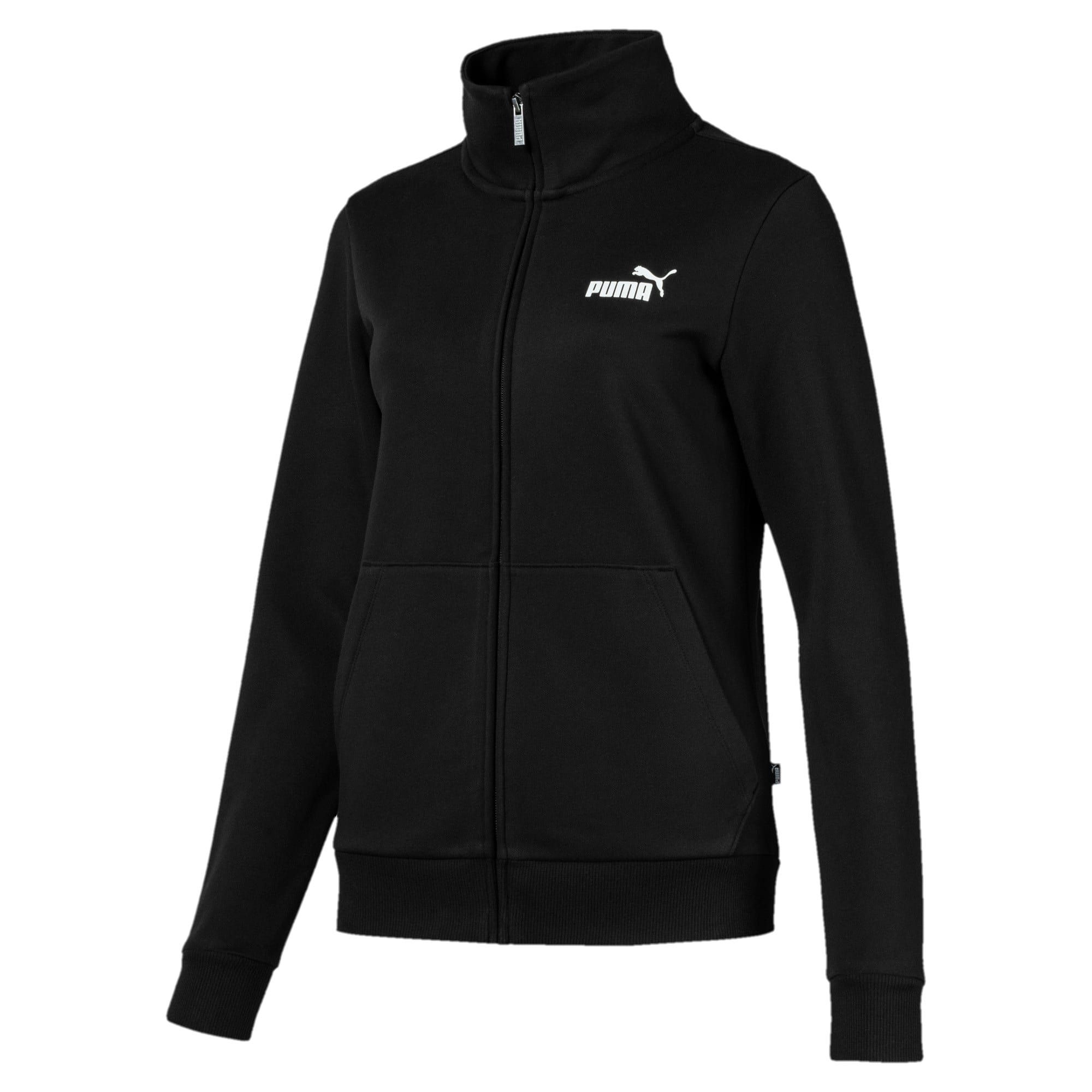 Thumbnail 1 of Essentials Fleece Women's Track Jacket, Cotton Black, medium