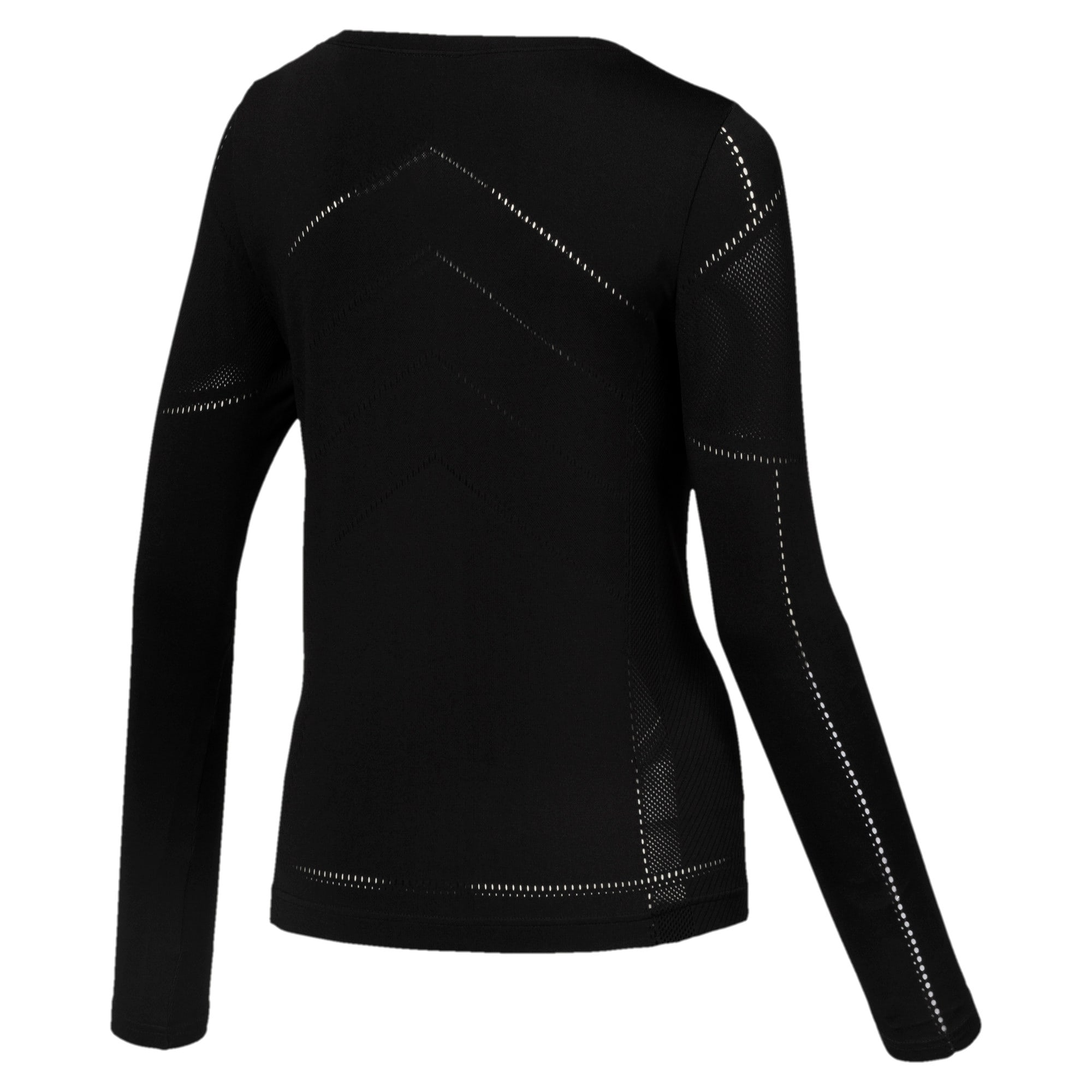 Thumbnail 3 of evoKNIT Seamless Long Sleeve Top, Puma Black, medium