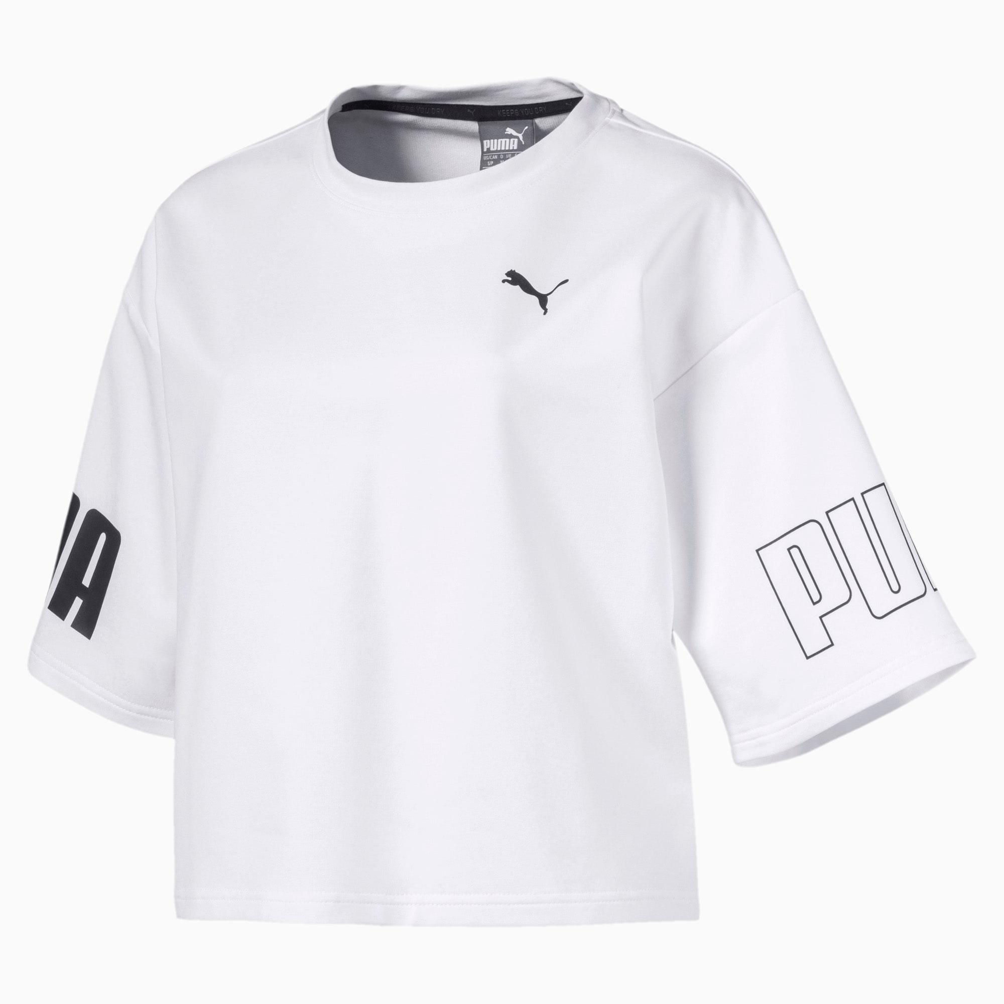 Modern Sport Damen Kurzes Sweat T Shirt | Puma White Black