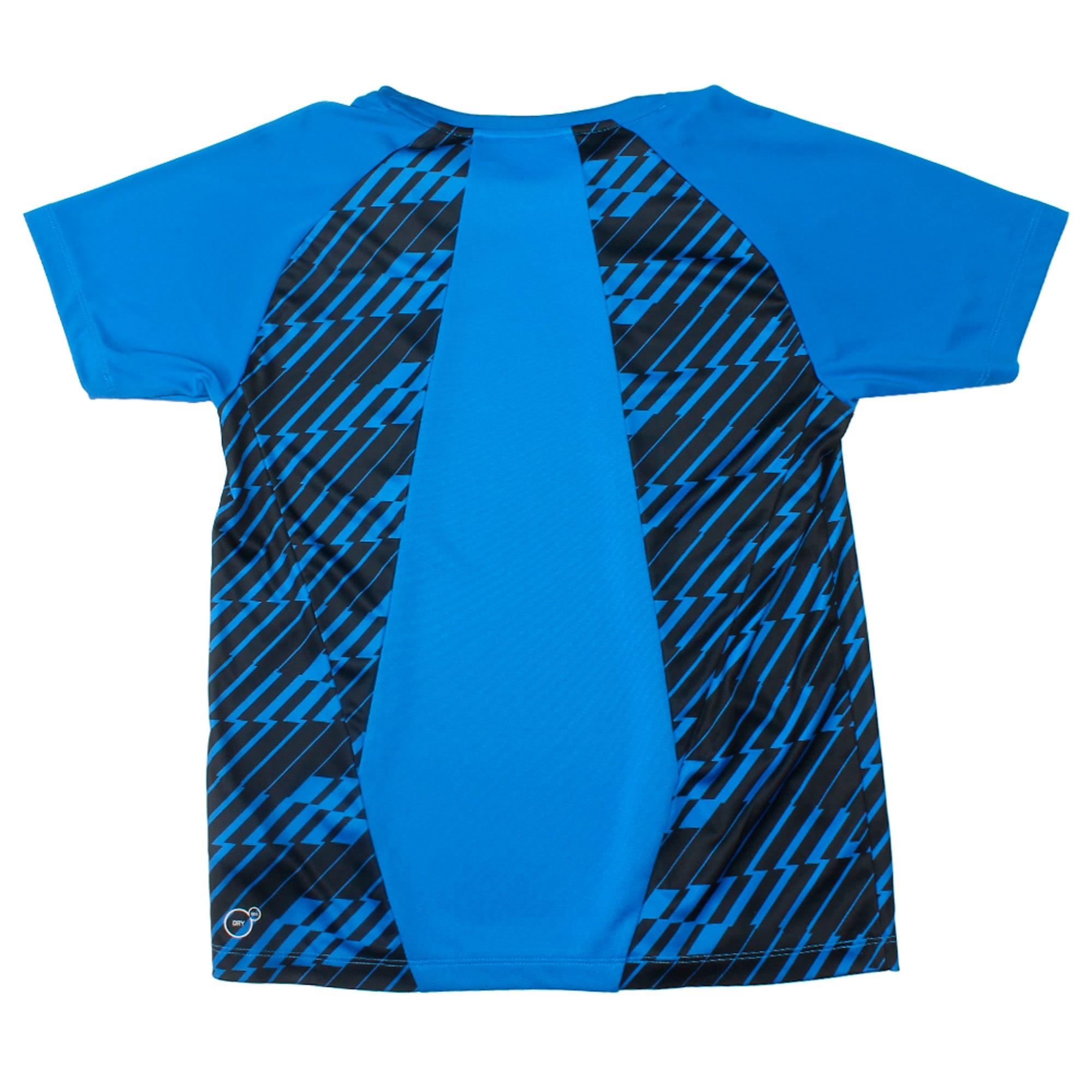 Thumbnail 3 of Gym Graphic AOP Tee B Puma Black, Strong Blue, medium-IND