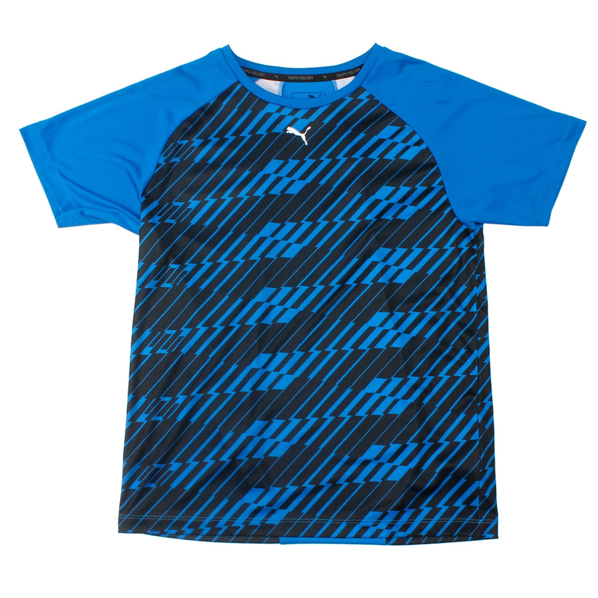 Thumbnail 2 of Gym Graphic AOP Tee B Puma Black, Strong Blue, medium-IND