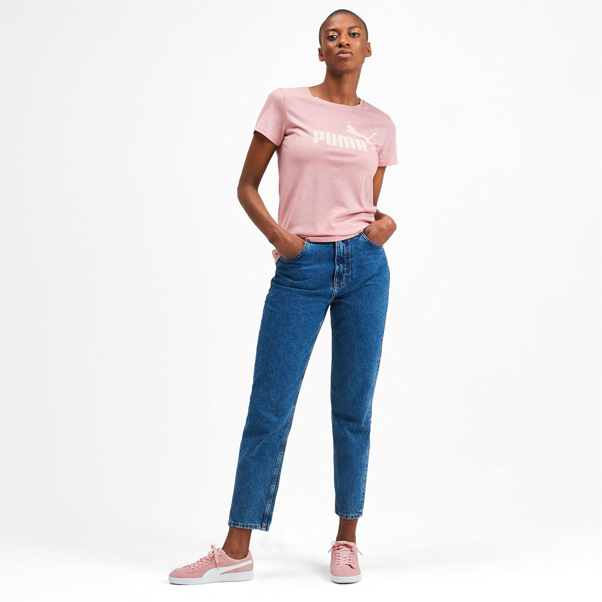Thumbnail 3 of Essentials Heather Damen T-Shirt, Bridal Rose, medium