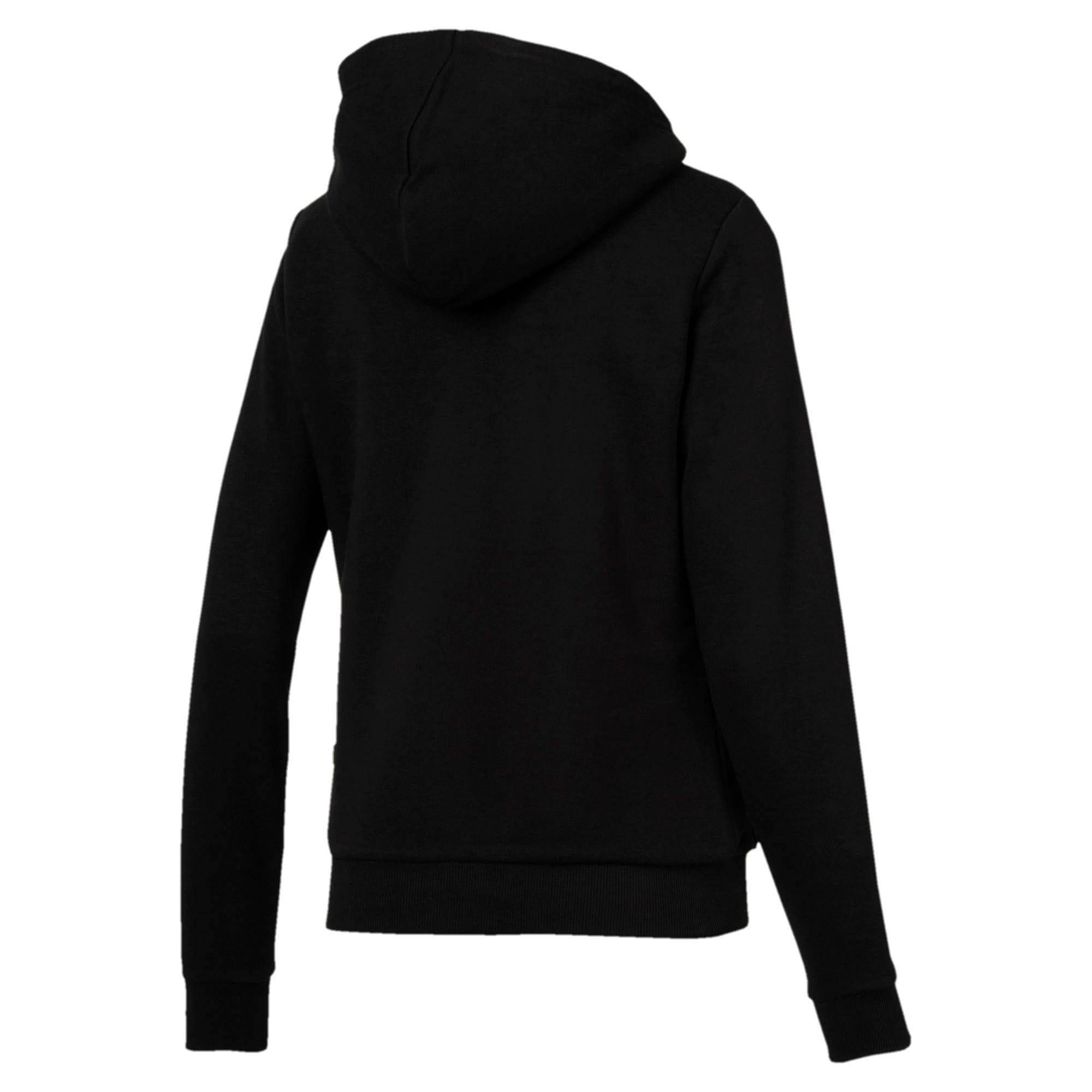 Thumbnail 5 of Essentials + Sherpa Women's Hooded Jacket, Cotton Black, medium