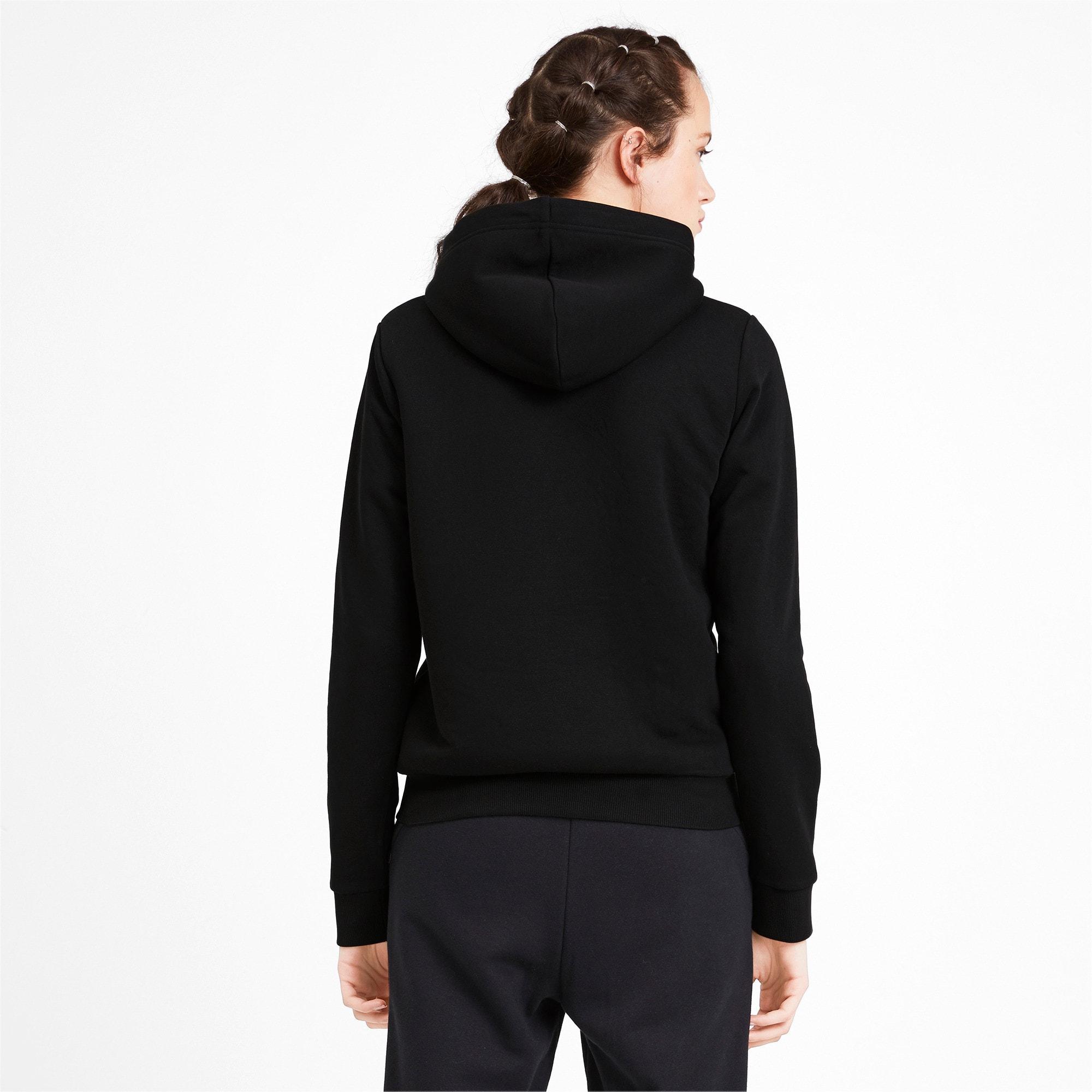 Thumbnail 2 of Essentials + Sherpa Women's Hooded Jacket, Cotton Black, medium