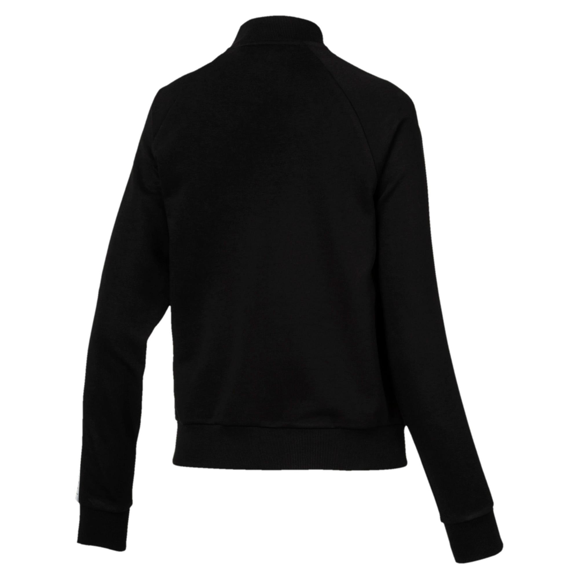 Thumbnail 3 of Tape Full Zip Women's Track Jacket, Cotton Black, medium
