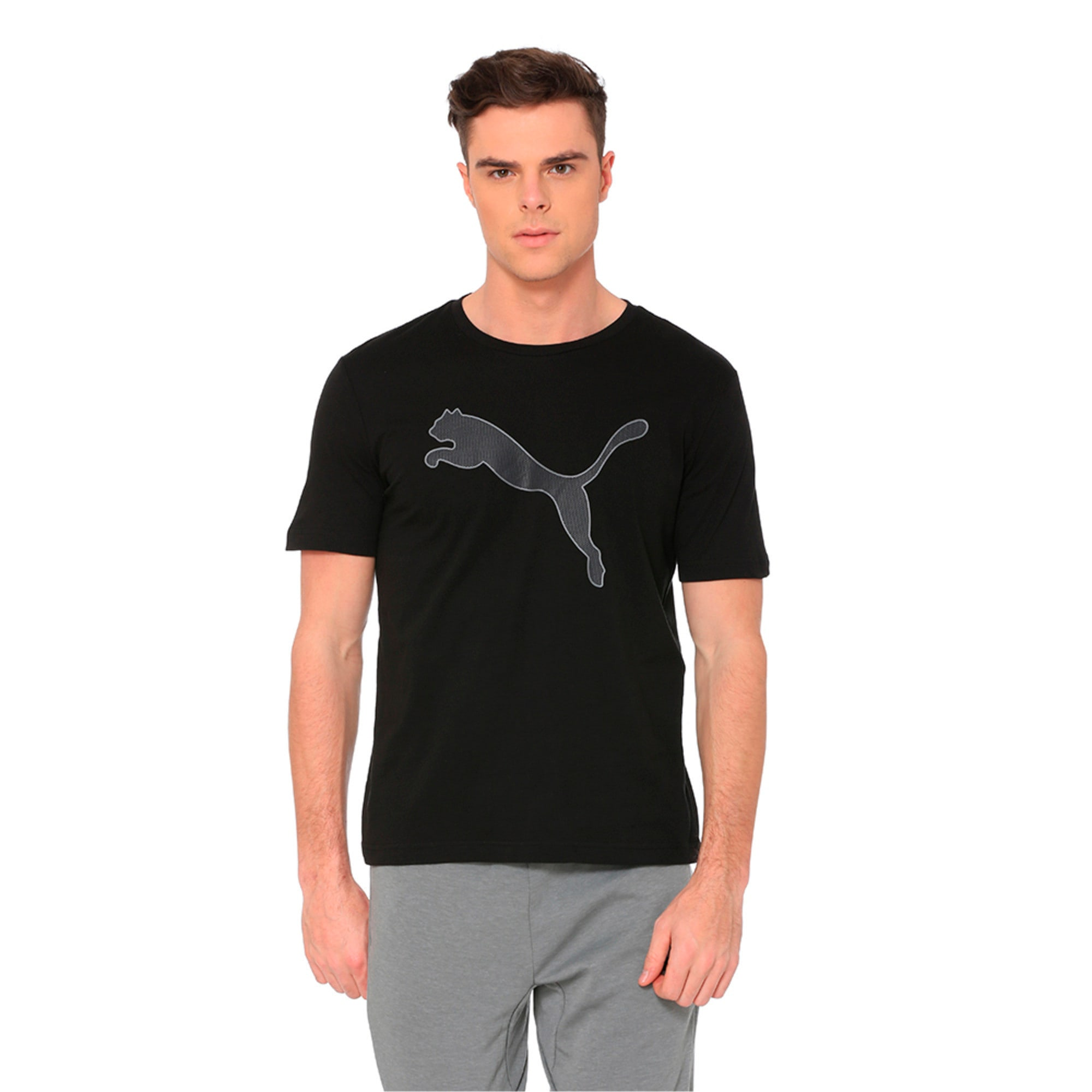 Active P48 Modern Sports Men's Tee, Cotton Black, large-IND