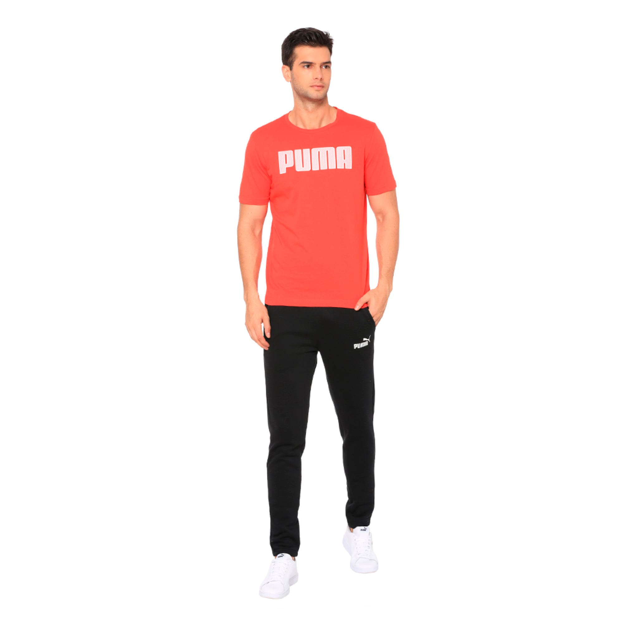 Thumbnail 3 of Active P48 Modern Sports Men's Tee, High Risk Red, medium-IND