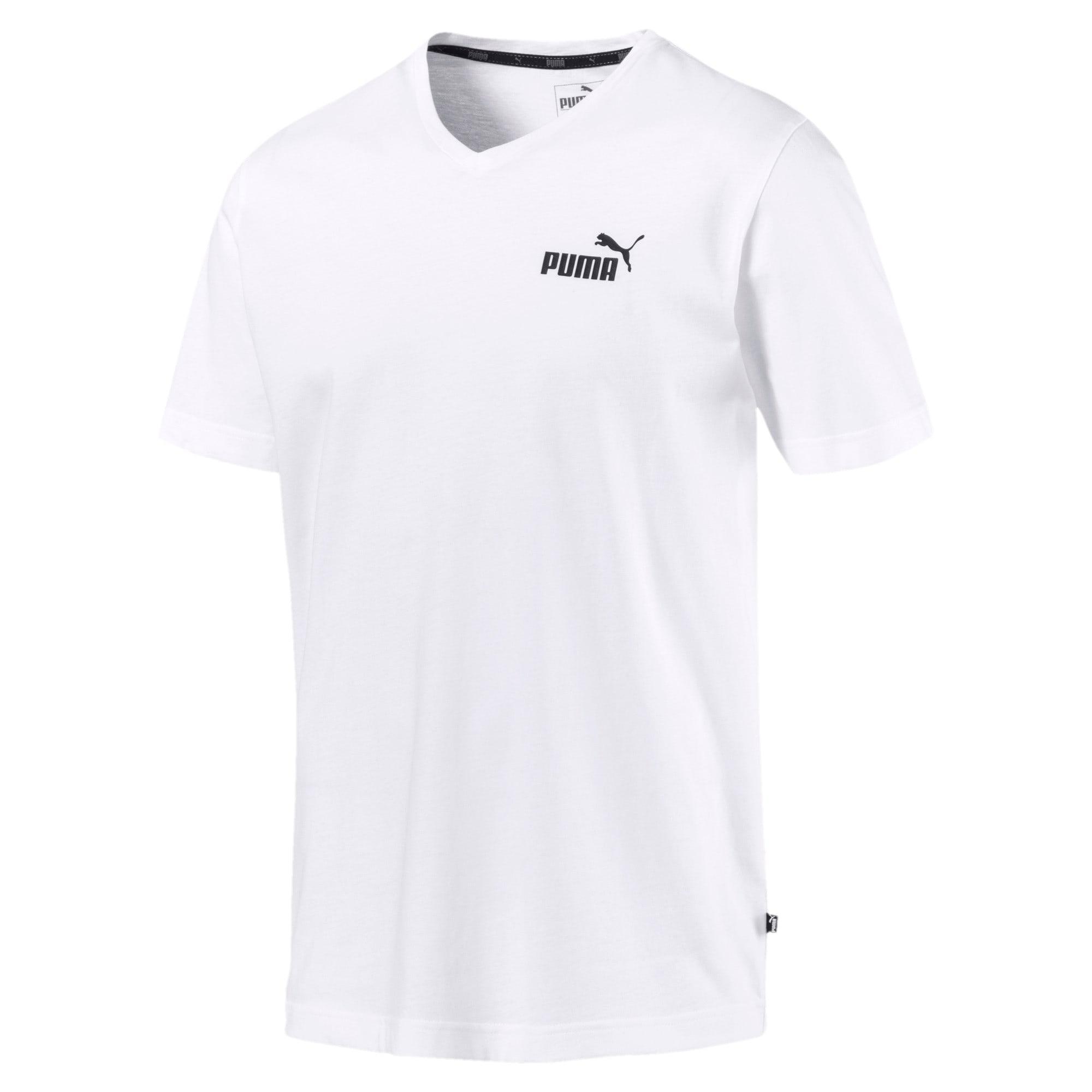 Thumbnail 4 of T-shirt con scollo a V Essentials uomo, Puma White, medium