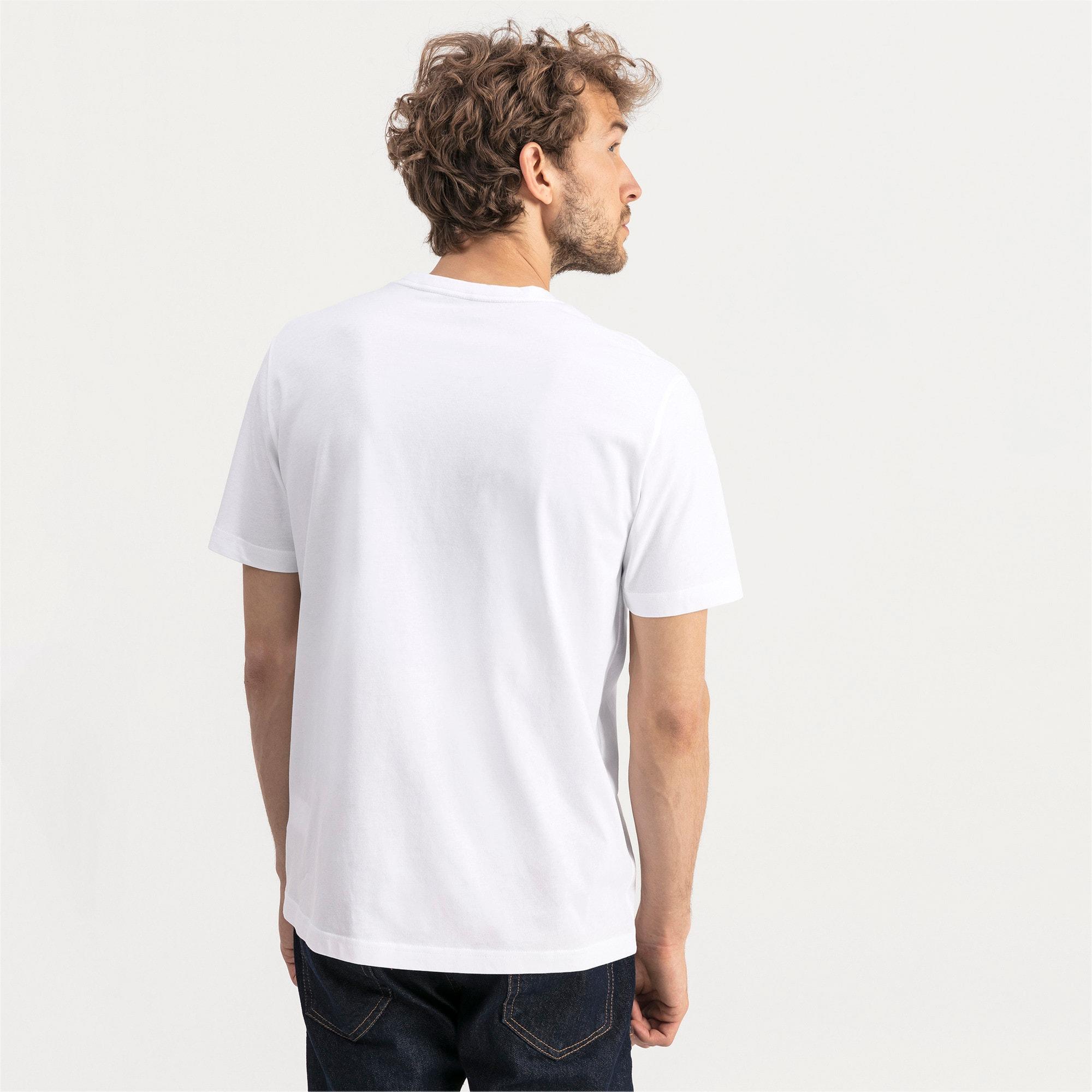 Thumbnail 2 of T-shirt con scollo a V Essentials uomo, Puma White, medium