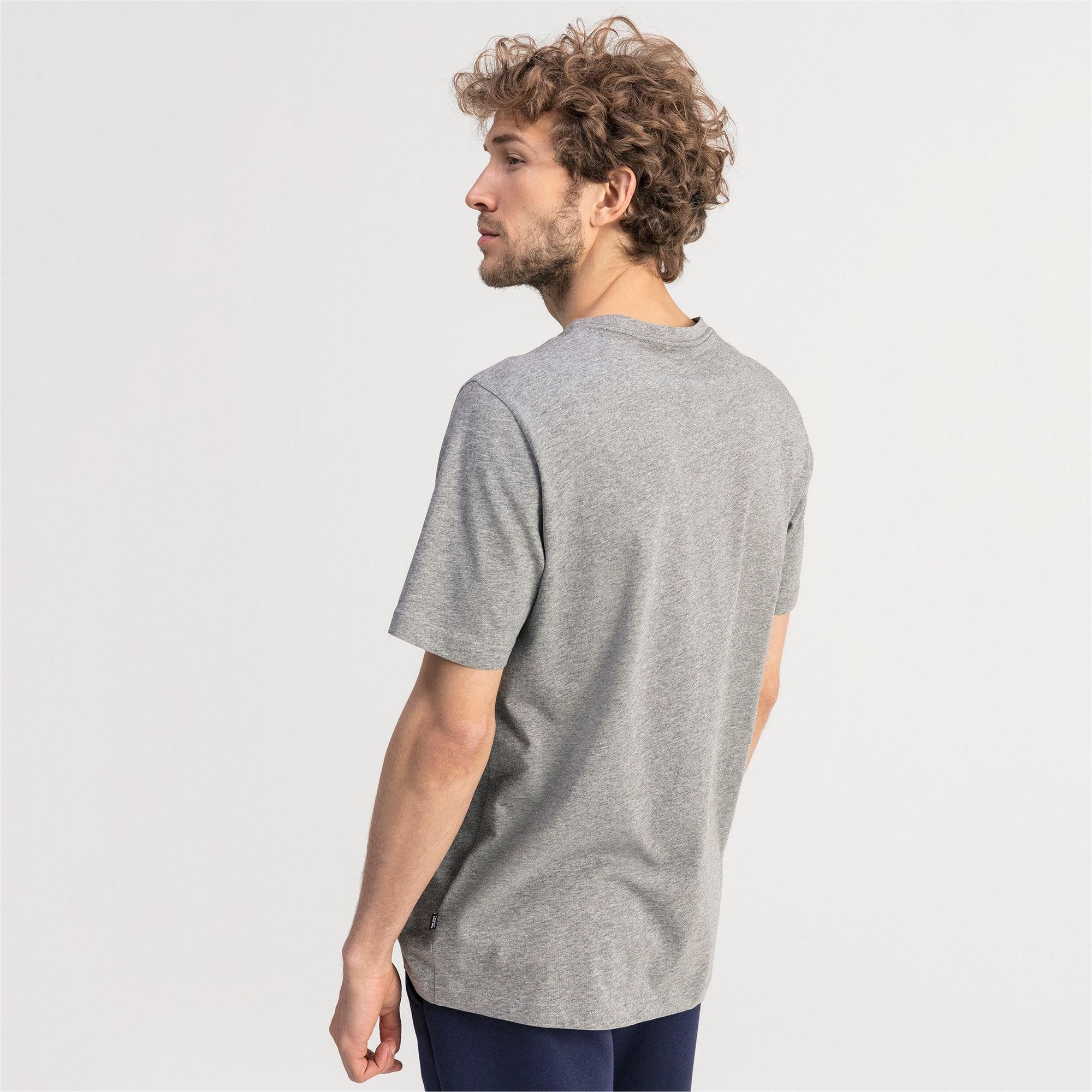 Thumbnail 2 of T-shirt con scollo a V Essentials uomo, Medium Gray Heather, medium