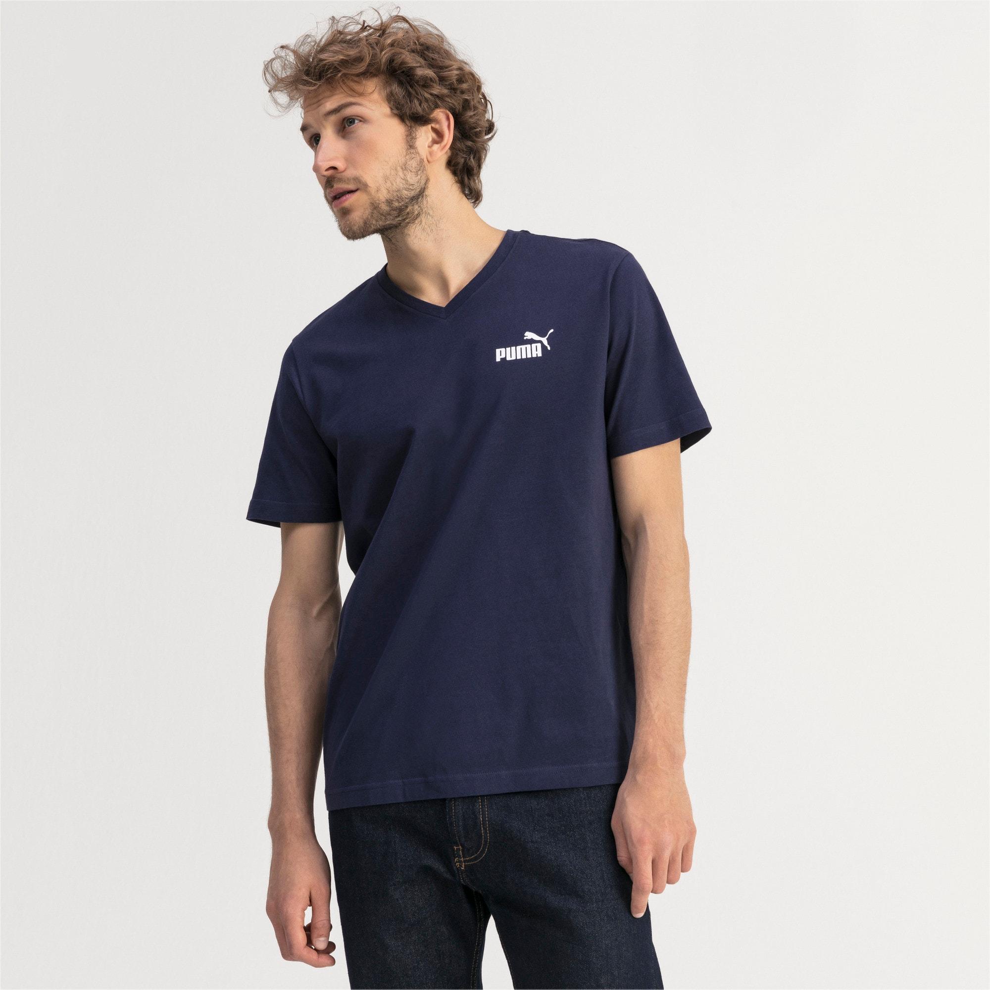 Thumbnail 1 of T-shirt con scollo a V Essentials uomo, Peacoat, medium