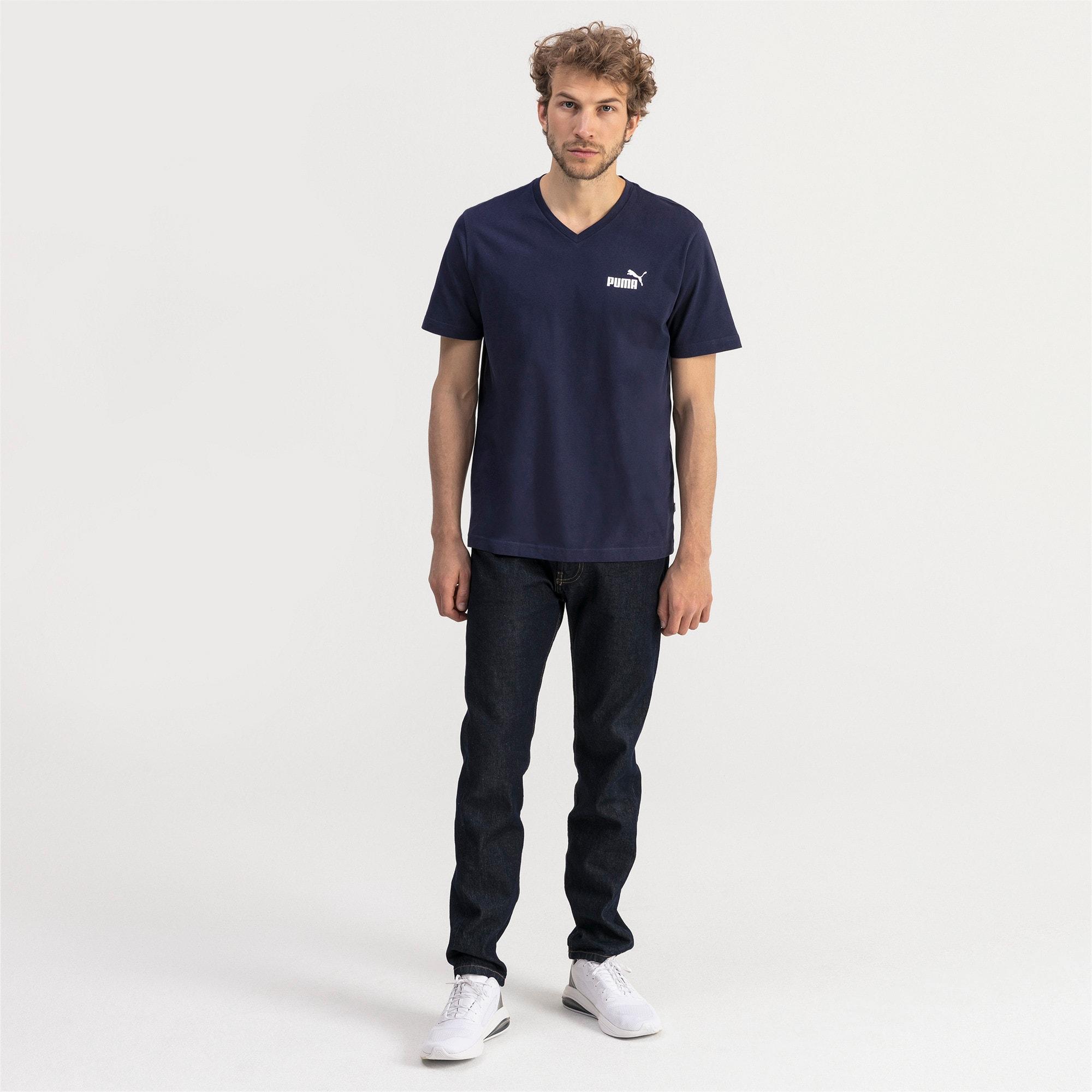 Thumbnail 3 of T-shirt con scollo a V Essentials uomo, Peacoat, medium