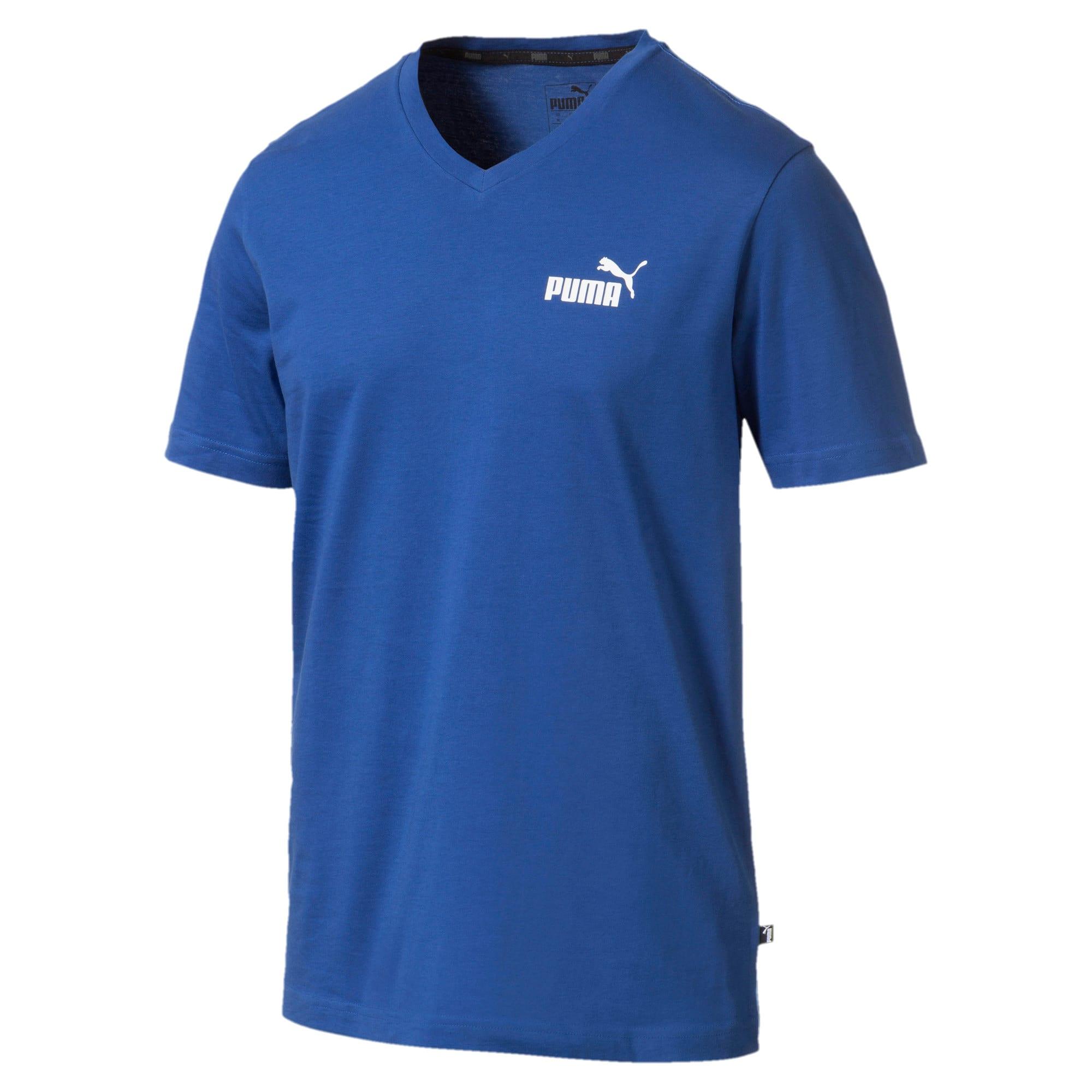 Thumbnail 4 of T-shirt con scollo a V Essentials uomo, Galaxy Blue, medium
