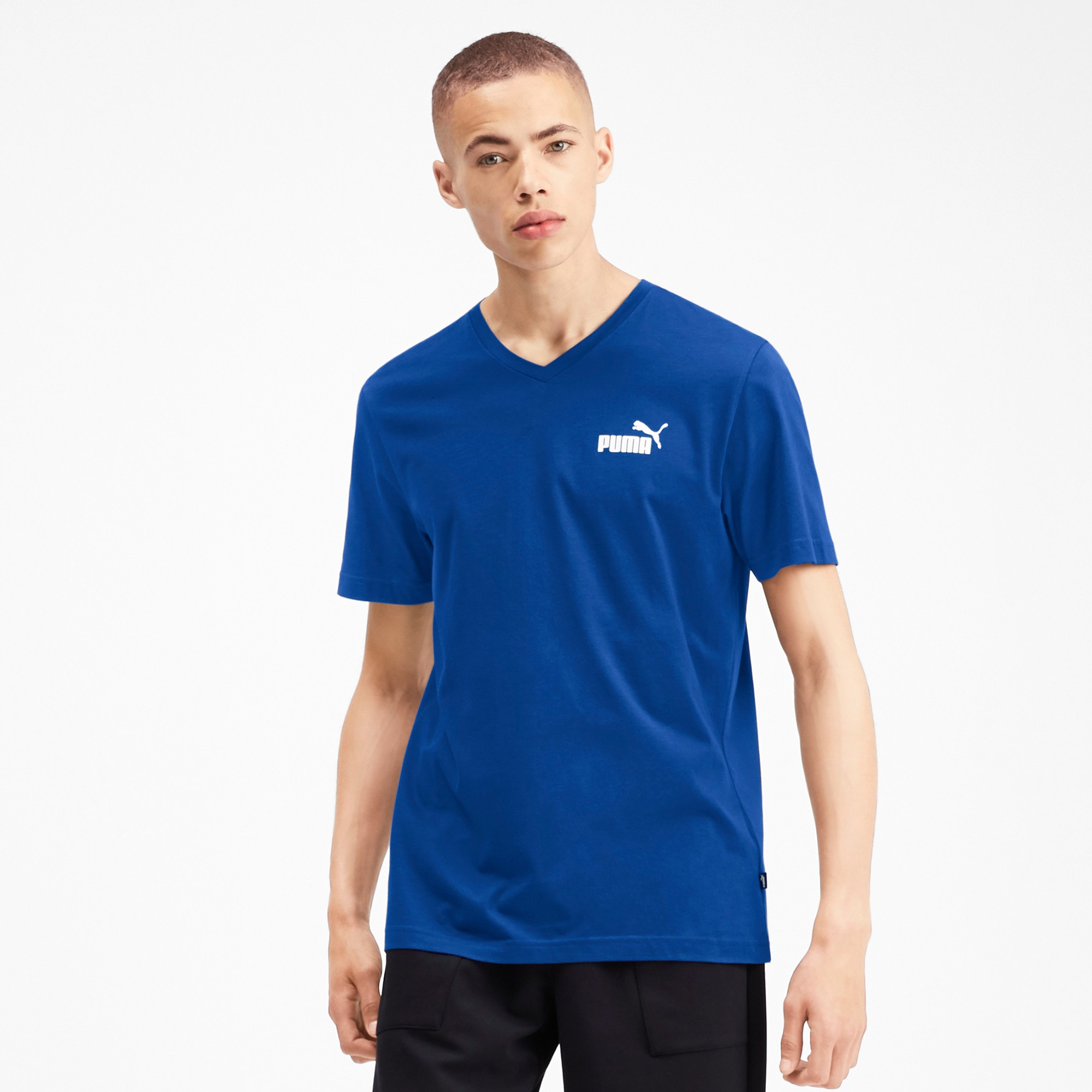 Thumbnail 1 of T-shirt con scollo a V Essentials uomo, Galaxy Blue, medium