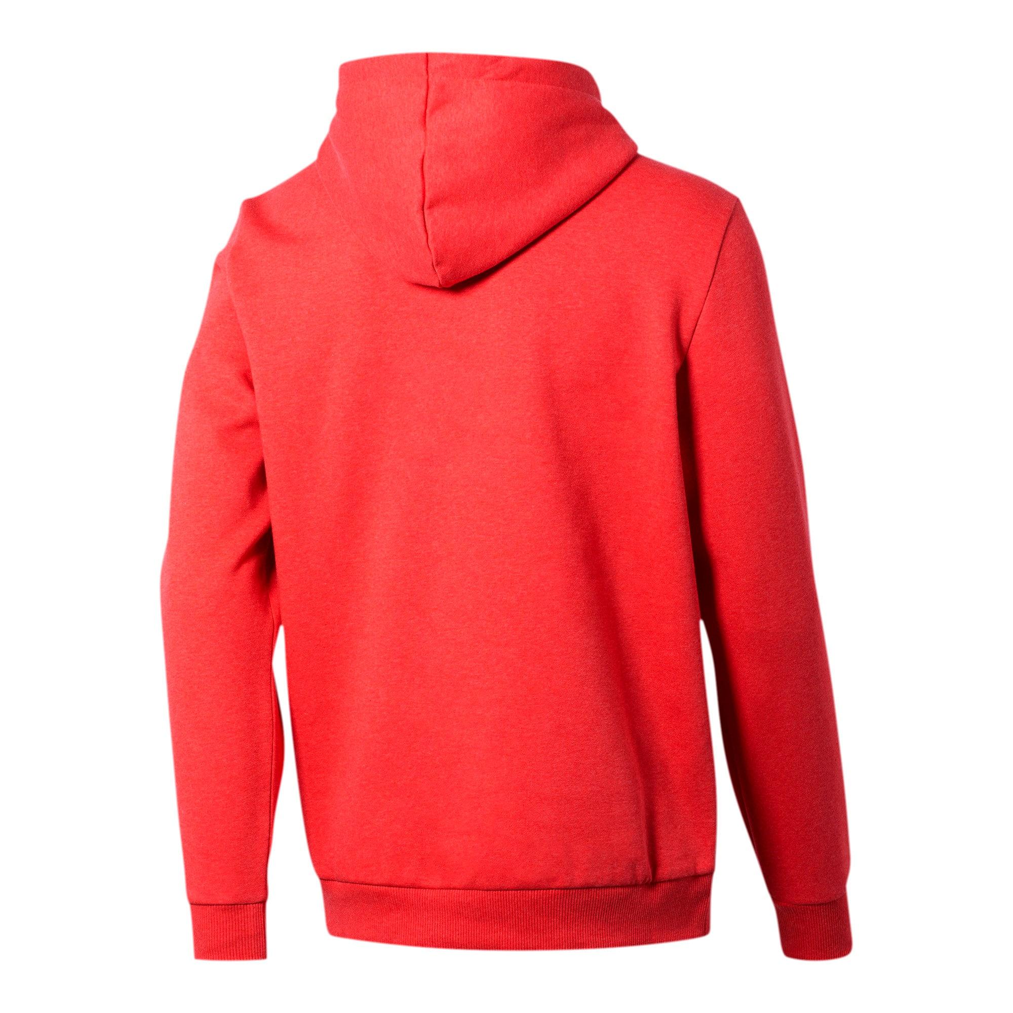 Thumbnail 2 of Essentials+ Men's Fleece Hoodie, High Risk Red Heather, medium