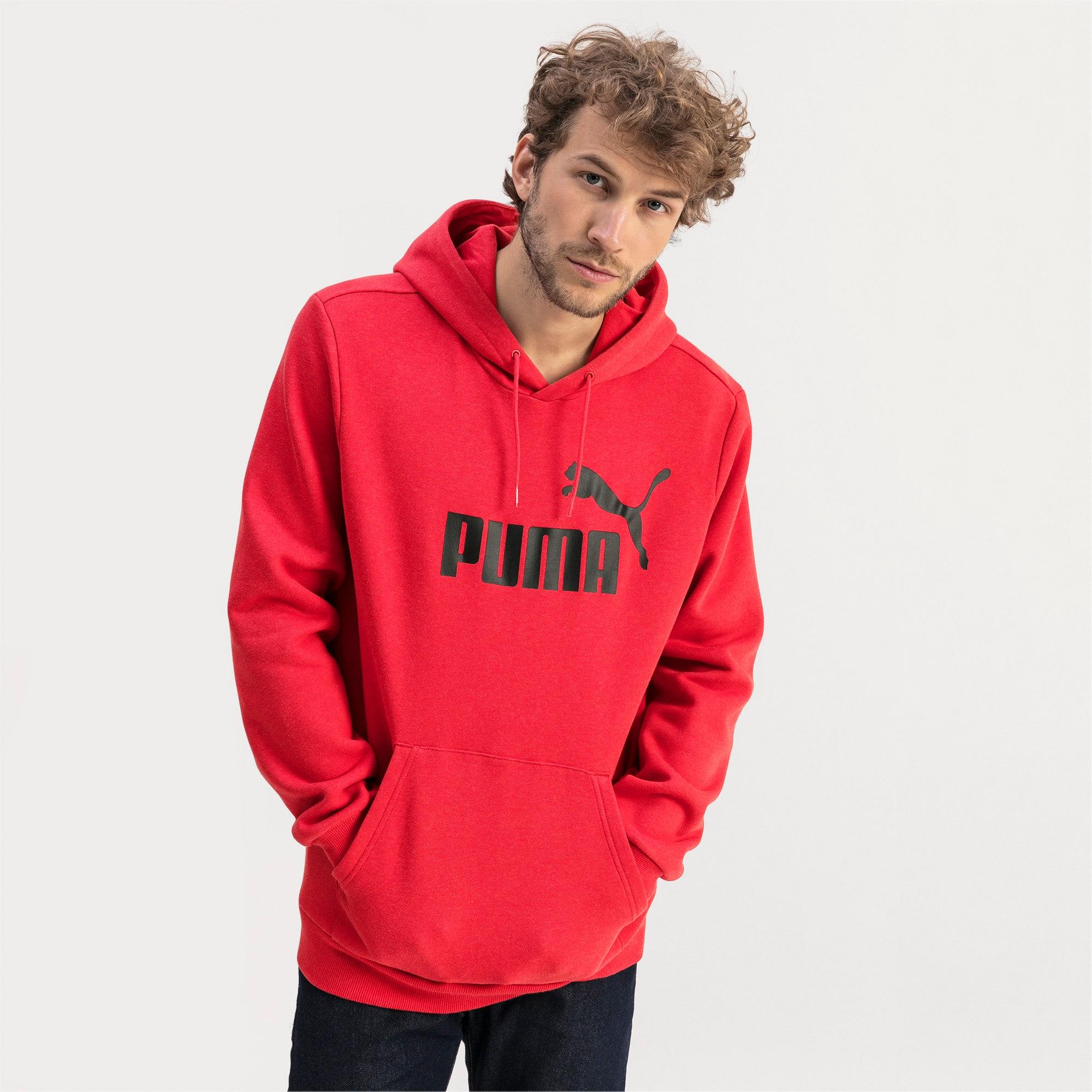 Thumbnail 1 of Essentials Fleece Men's Hoodie, High Risk Red Heather, medium