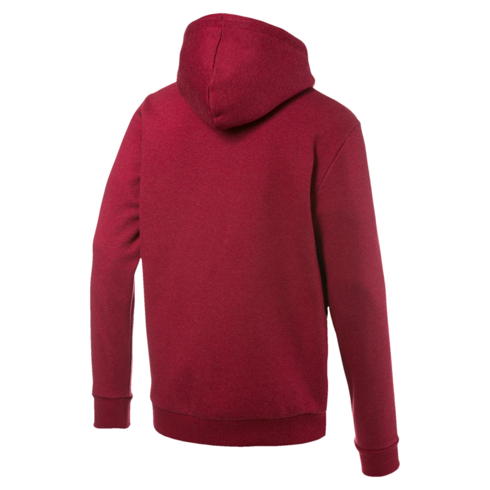 Thumbnail 5 of Essentials+ Men's Fleece Hoodie, Rhubarb Heather, medium
