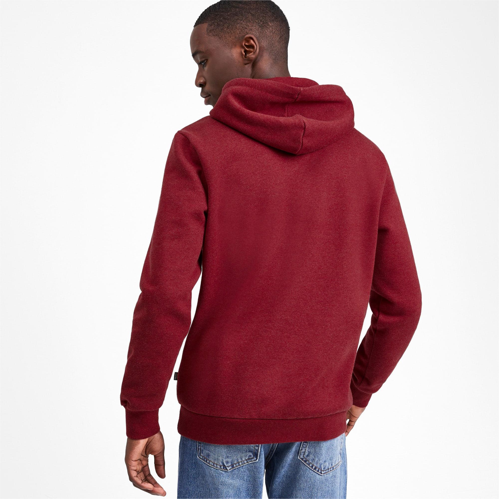 Thumbnail 3 of Essentials+ Men's Fleece Hoodie, Rhubarb Heather, medium