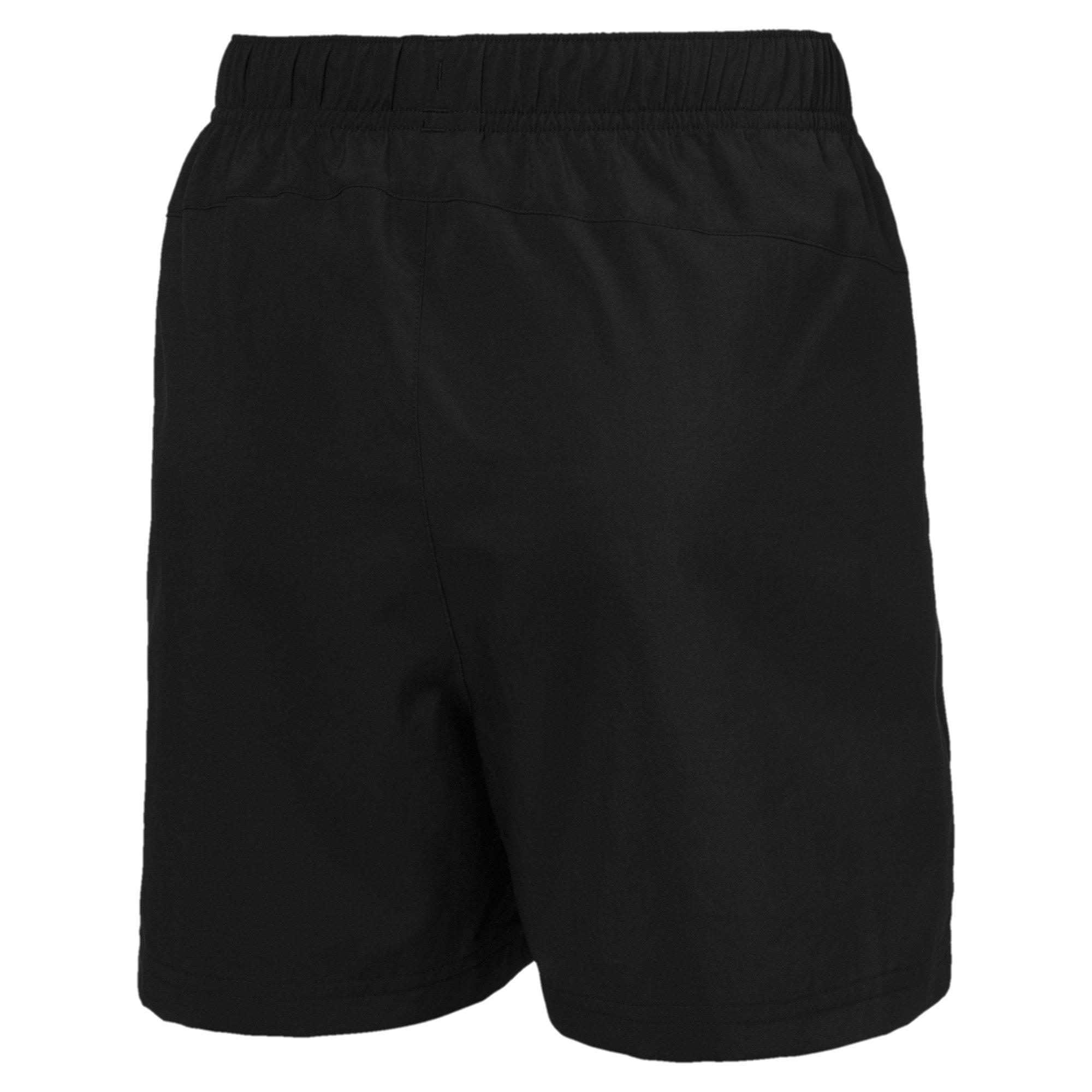 Thumbnail 2 of Active Woven Boys' Short, Puma Black, medium-IND