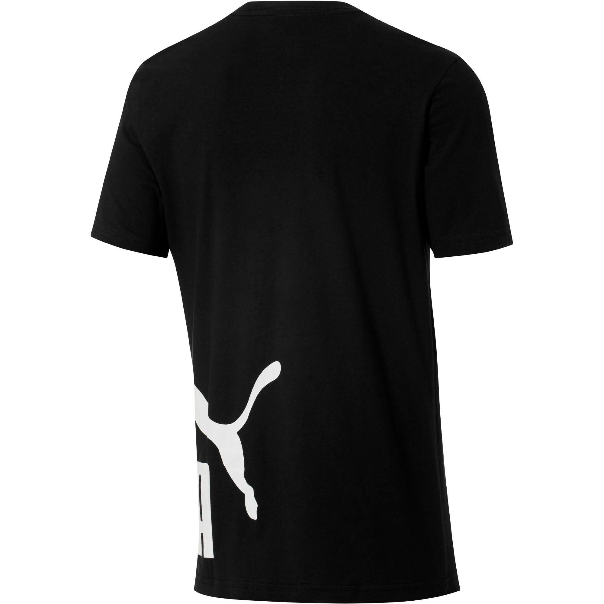 Thumbnail 3 of No. 1 Logo Wrap T-Shirt, Puma Black-Puma White, medium