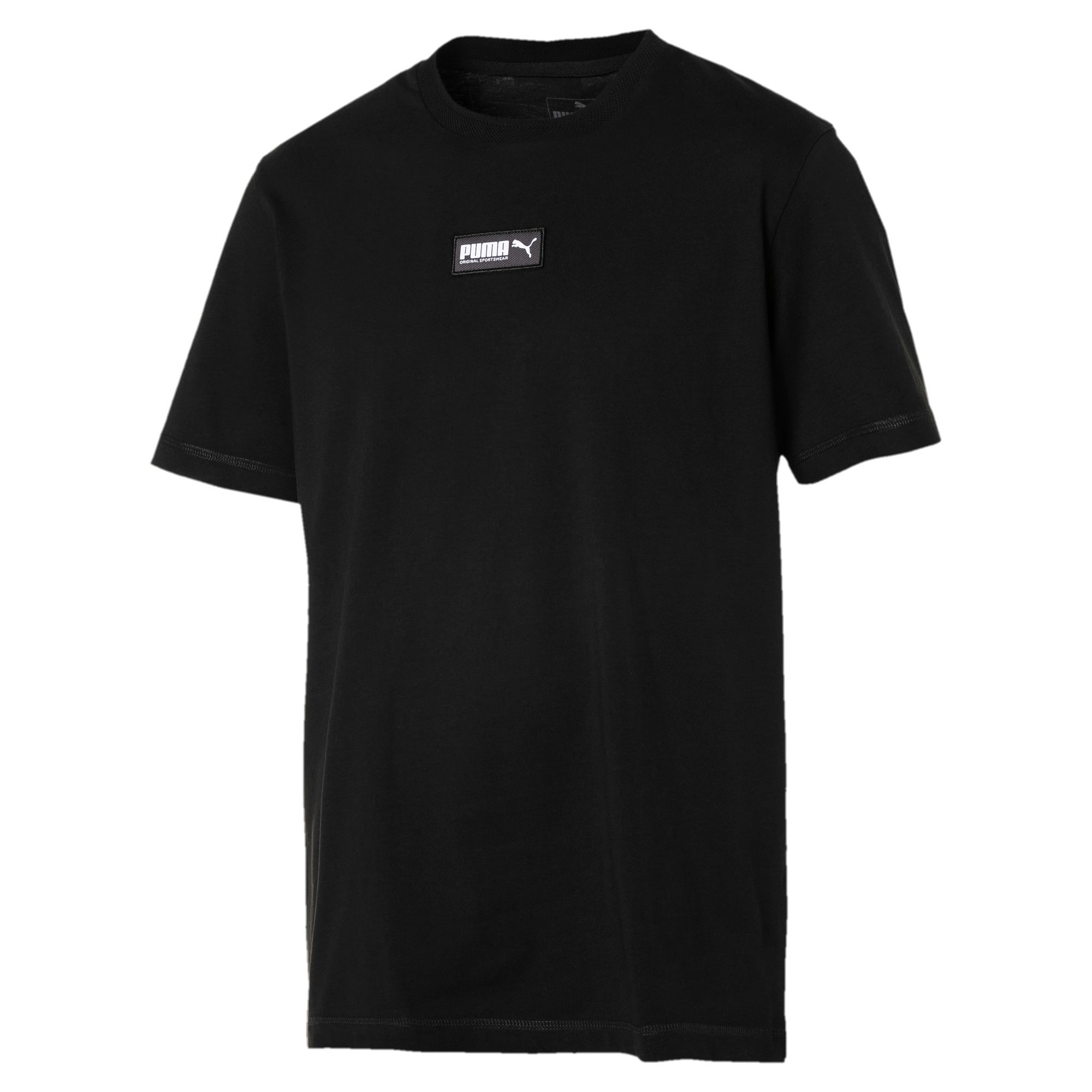 Fusion Short Sleeve Men's Tee, Cotton Black, large