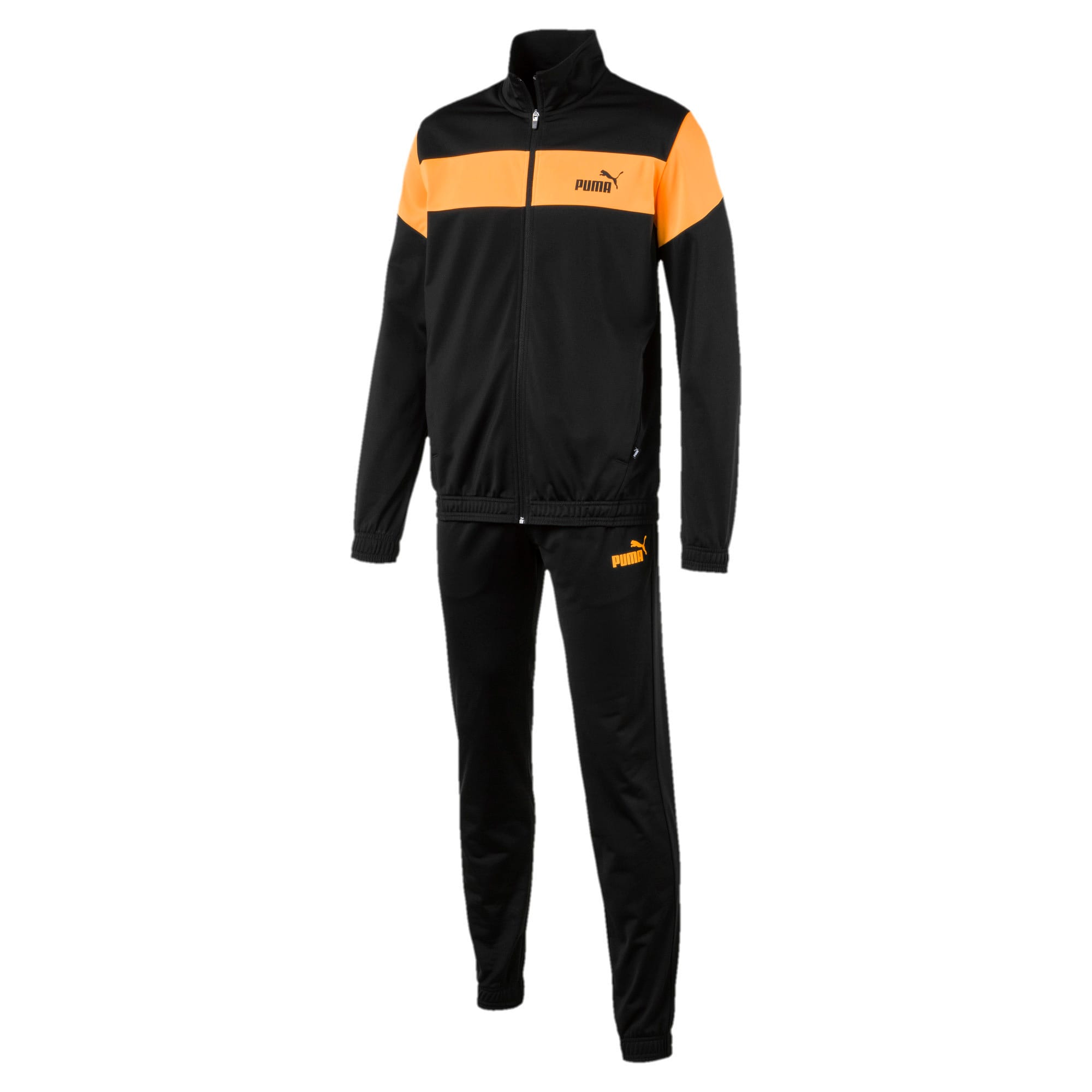 Thumbnail 4 of Clean Tricot Men's Track Suit, Puma Black, medium-IND