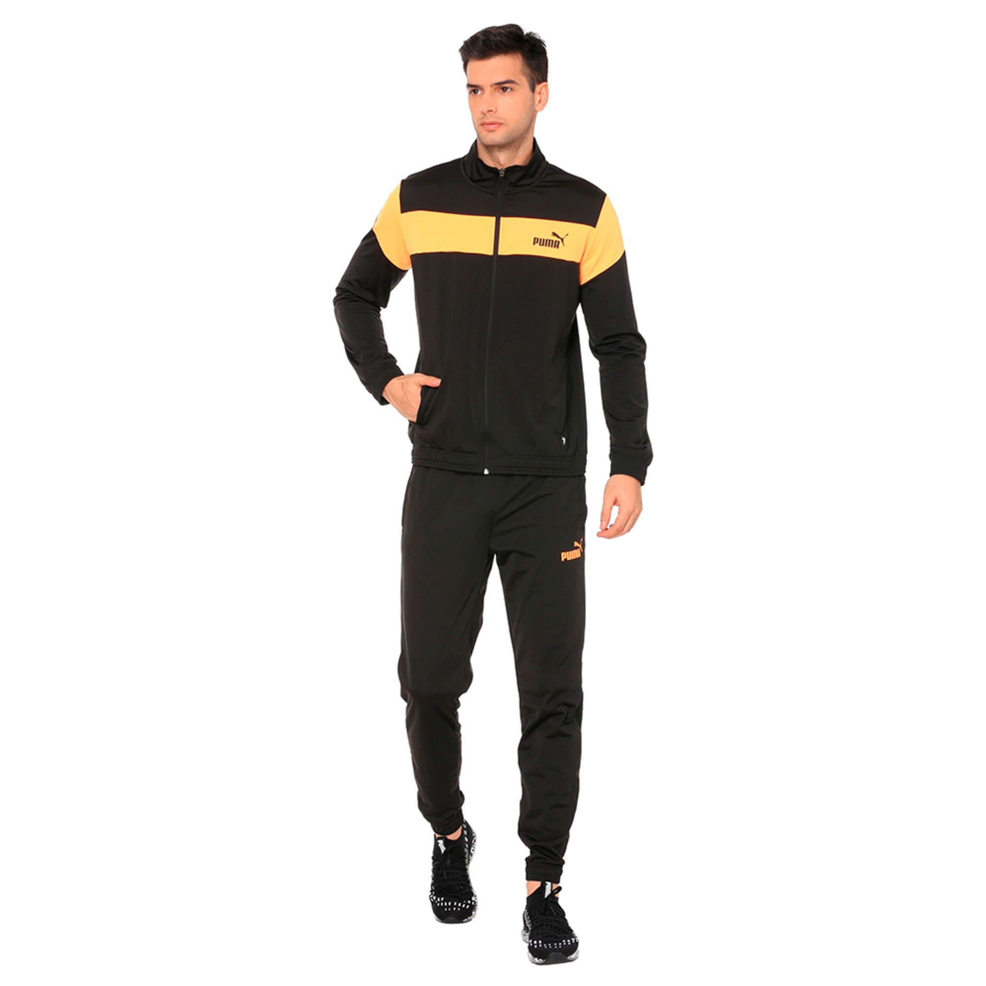 Thumbnail 1 of Clean Tricot Men's Track Suit, Puma Black, medium-IND