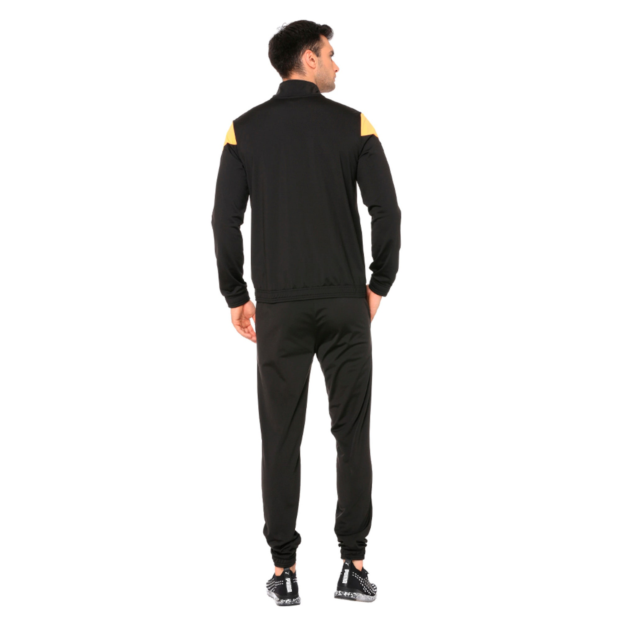 Thumbnail 2 of Clean Tricot Men's Track Suit, Puma Black, medium-IND