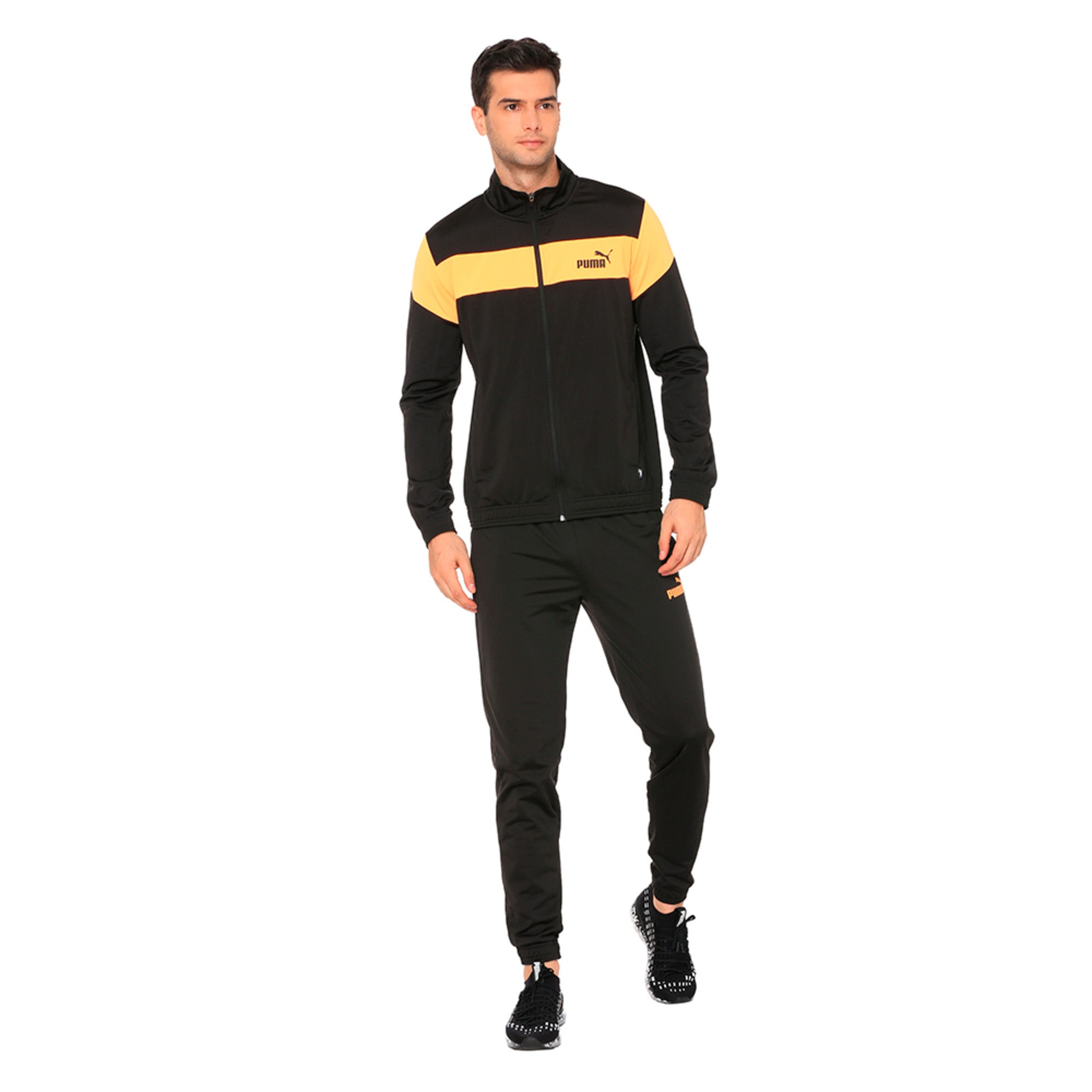 Thumbnail 3 of Clean Tricot Men's Track Suit, Puma Black, medium-IND