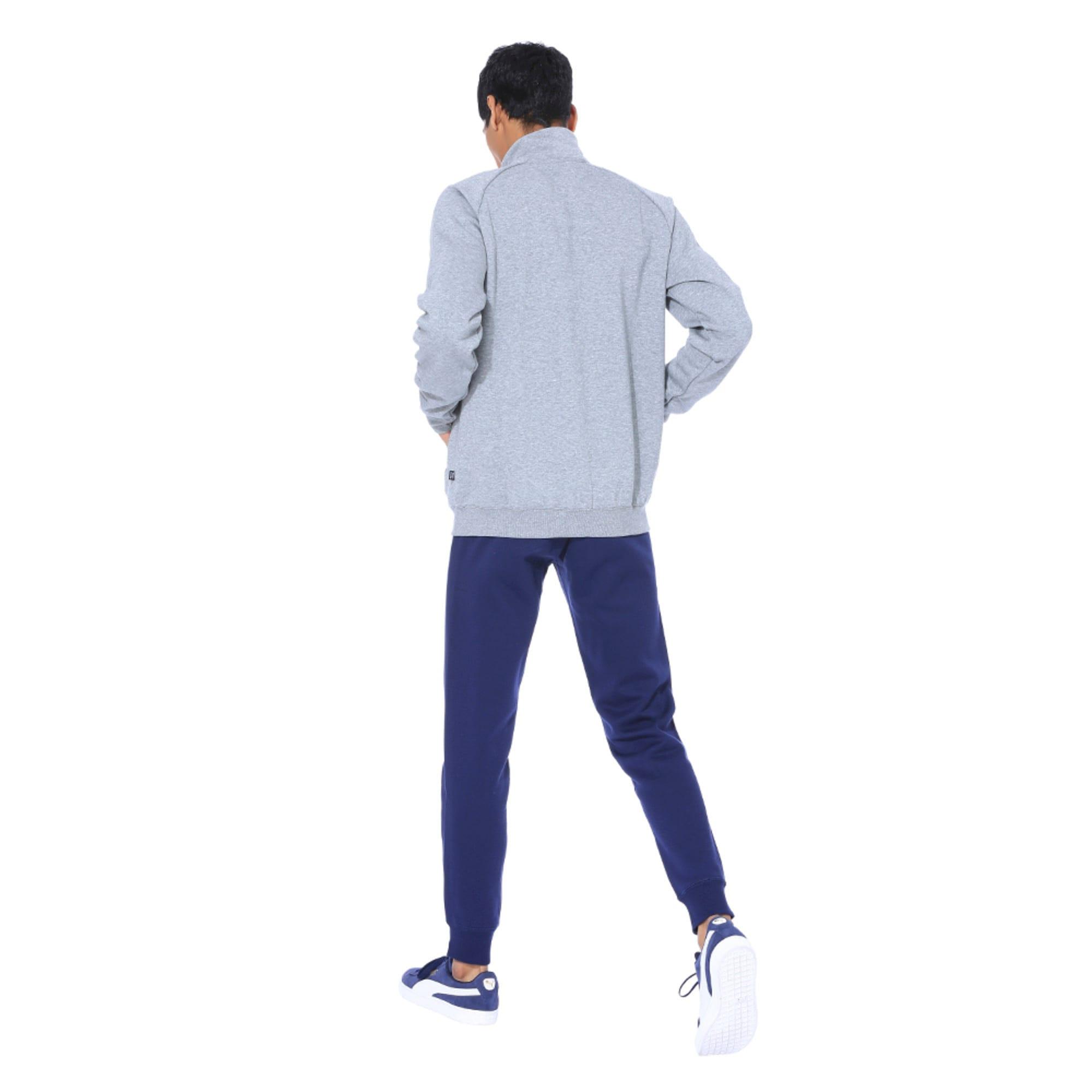 Thumbnail 4 of Clean CL Men's Sweat Suit, Medium Gray Heather, medium-IND