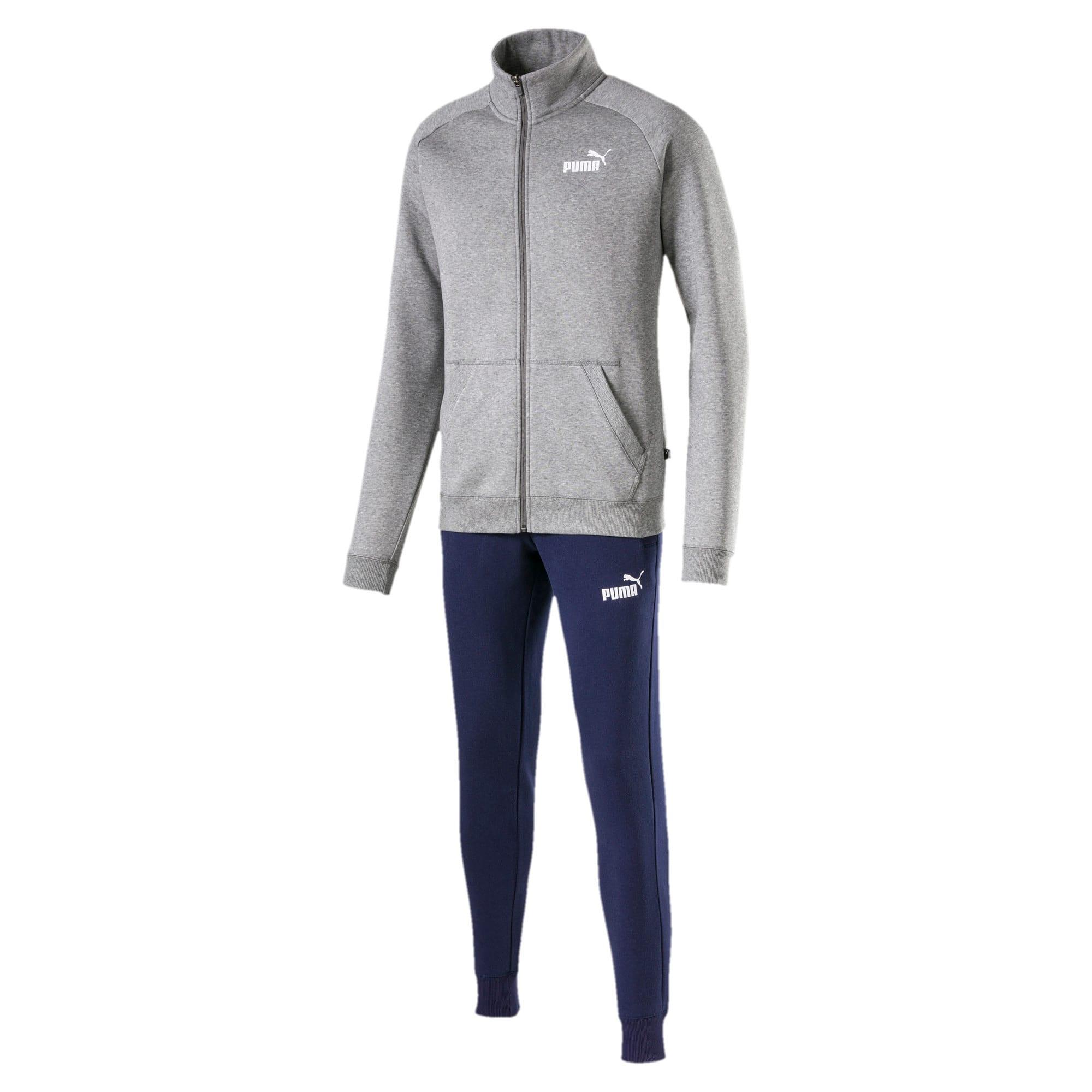 Thumbnail 3 of Clean CL Men's Sweat Suit, Medium Gray Heather, medium-IND