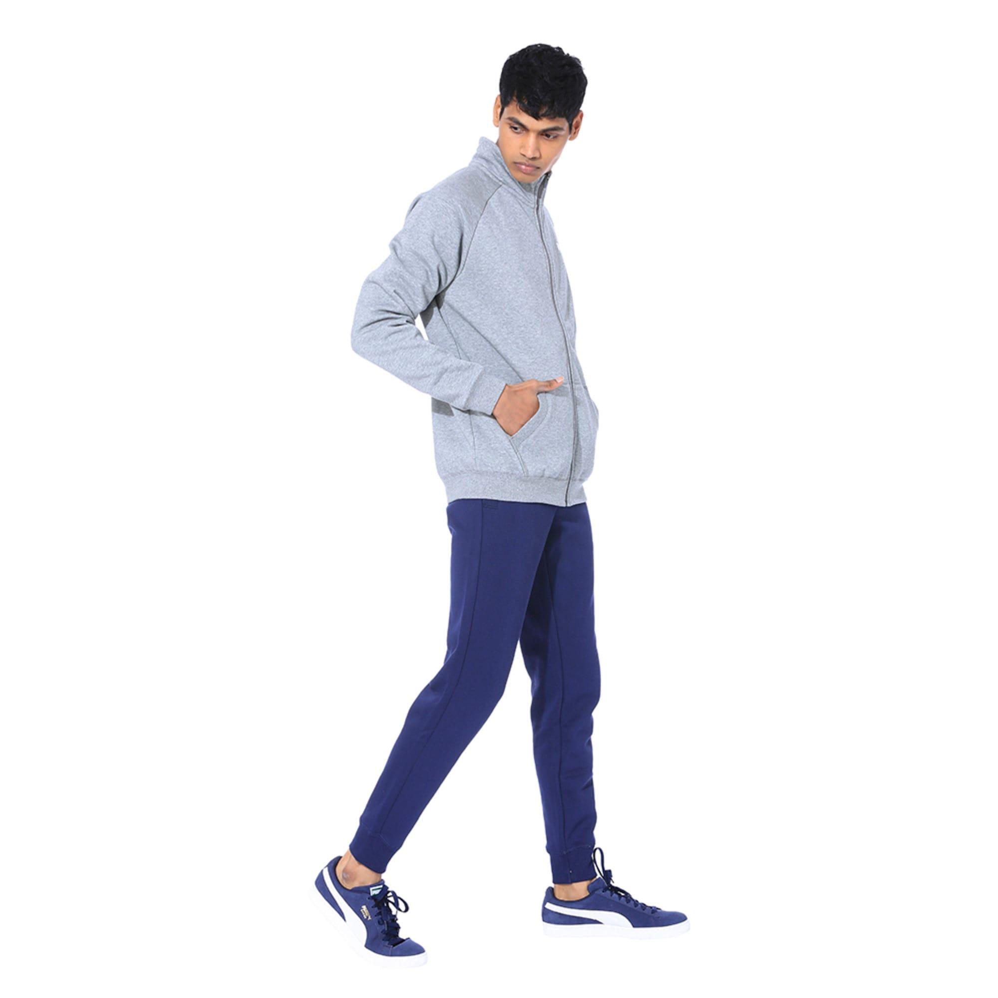 Thumbnail 2 of Clean CL Men's Sweat Suit, Medium Gray Heather, medium-IND