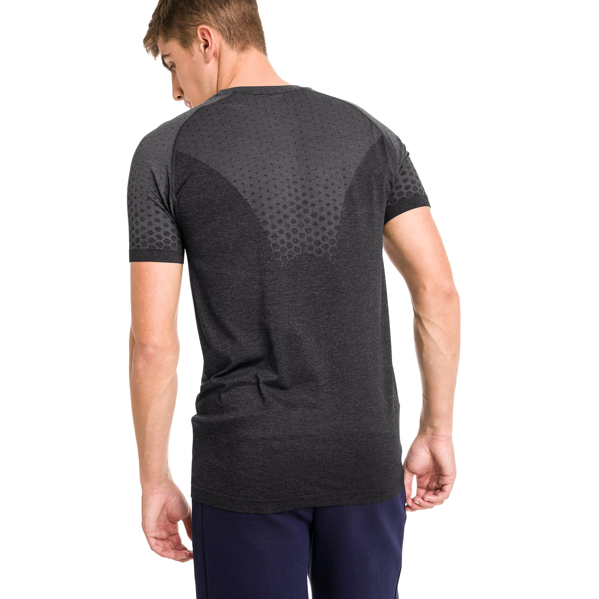 Thumbnail 2 of Essentials evoKNIT Herren T-Shirt, Puma Black, medium
