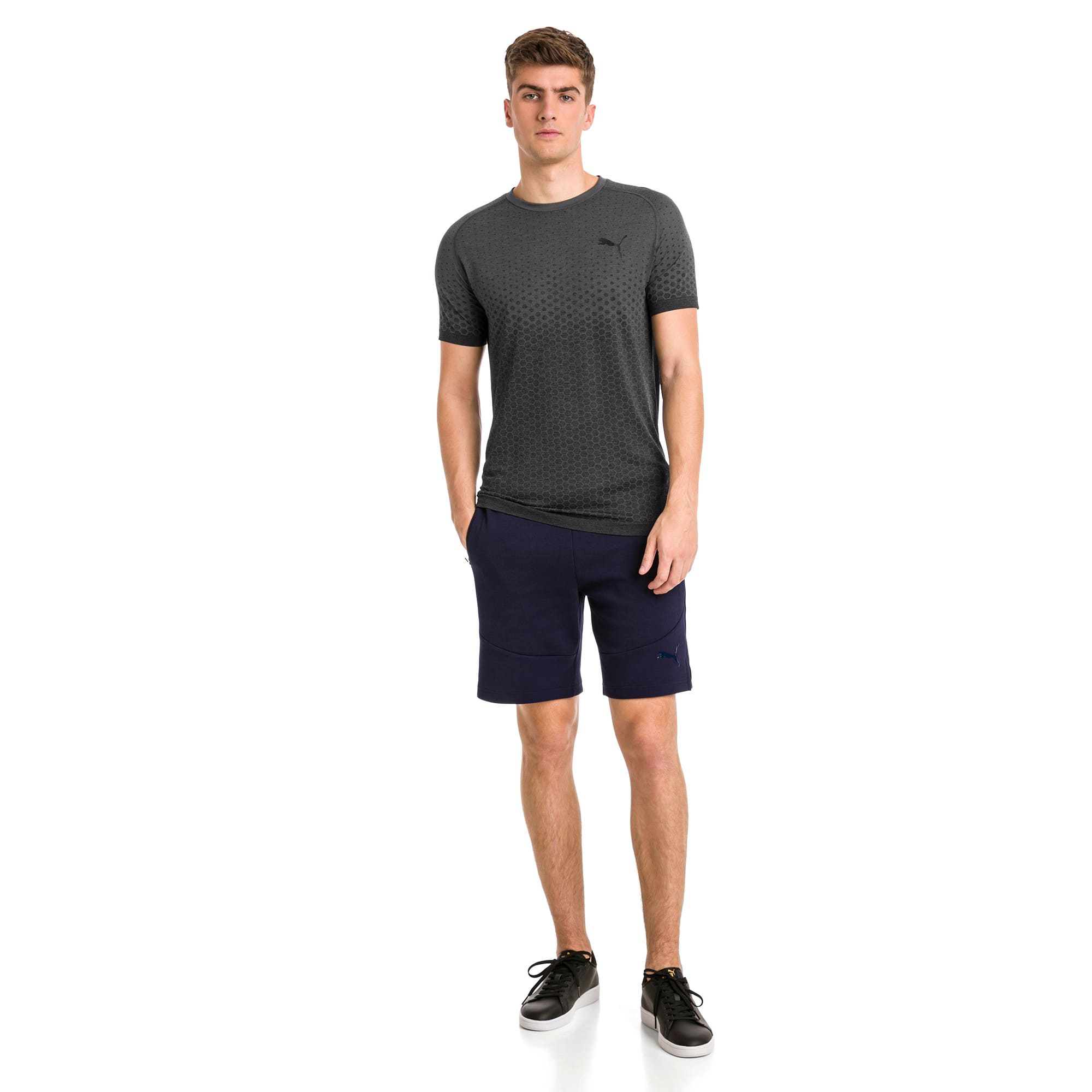 Thumbnail 3 of Essentials evoKNIT Herren T-Shirt, Puma Black, medium