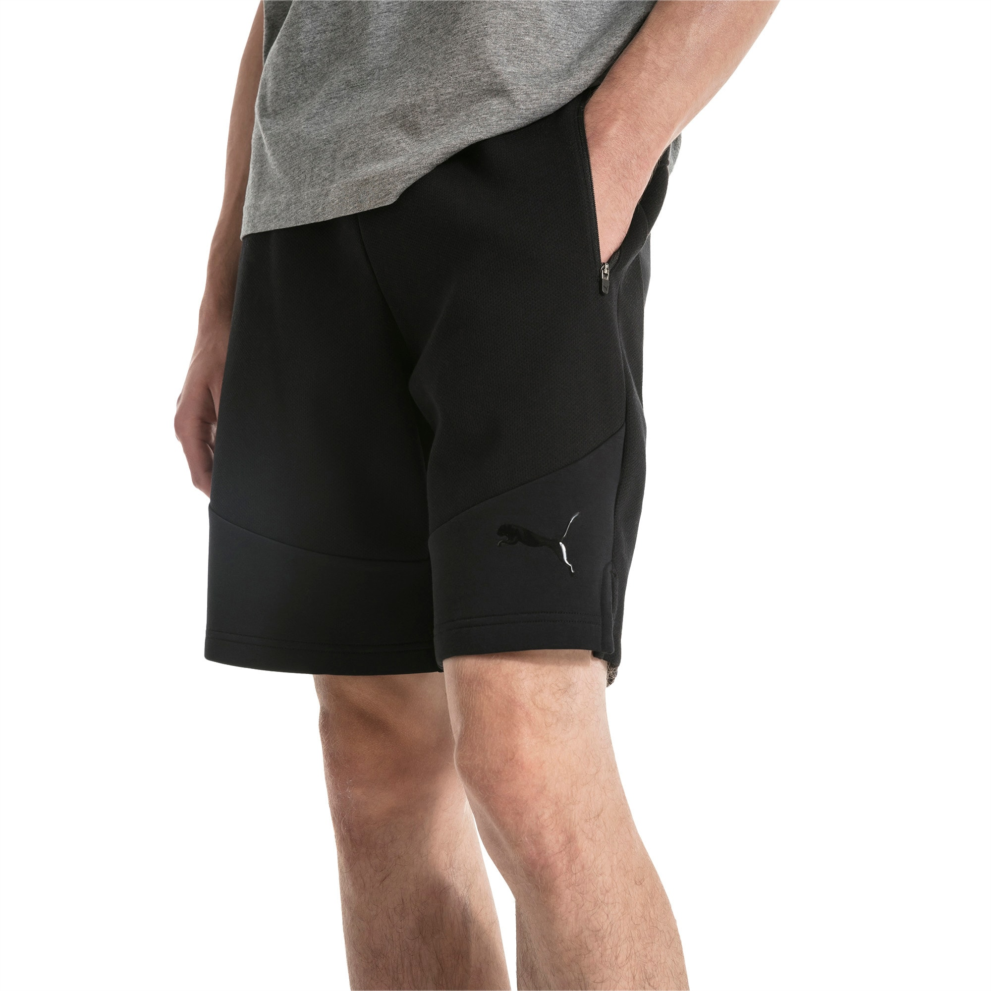 Puma Active Evo Stripe Ultimate Mens Running Shorts Black