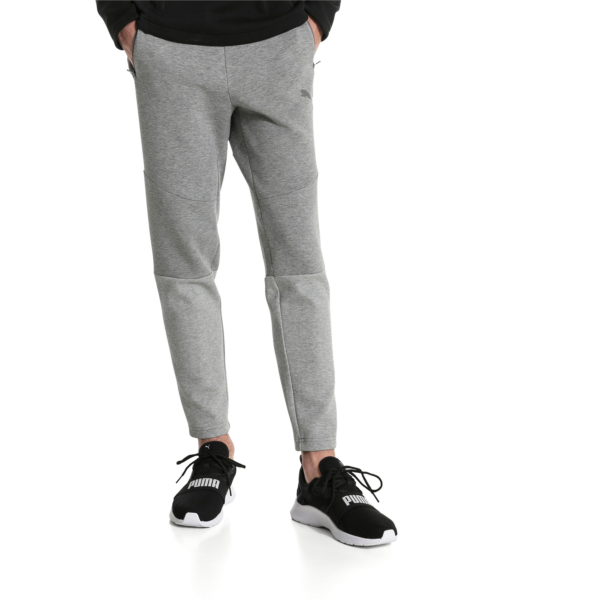 Pantalones Evostripe Move Knitted Para Hombre Medium Gray Heather Puma Fathers Day Puma Espana