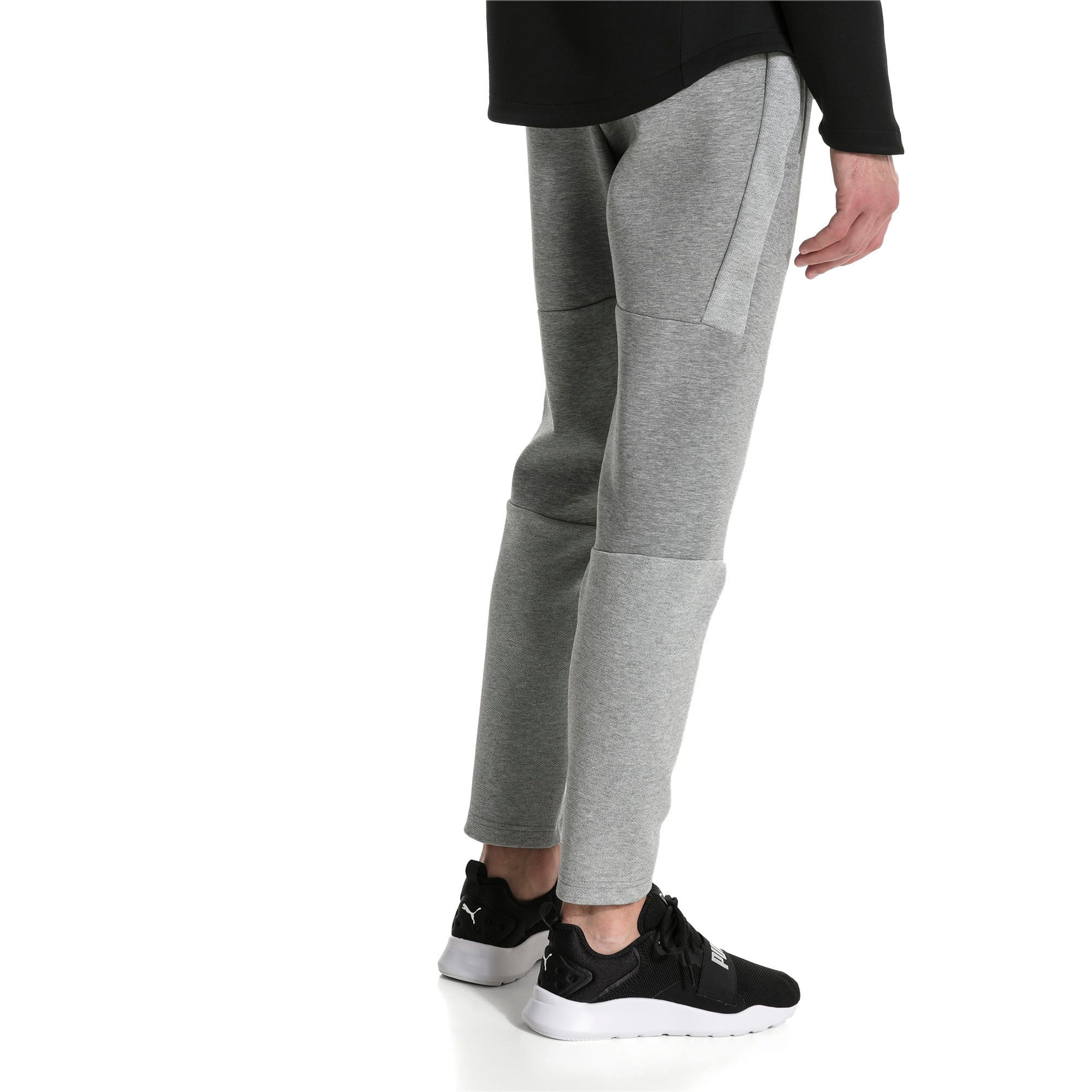 Thumbnail 2 of Evostripe Move Knitted Men's Pants, Medium Gray Heather, medium