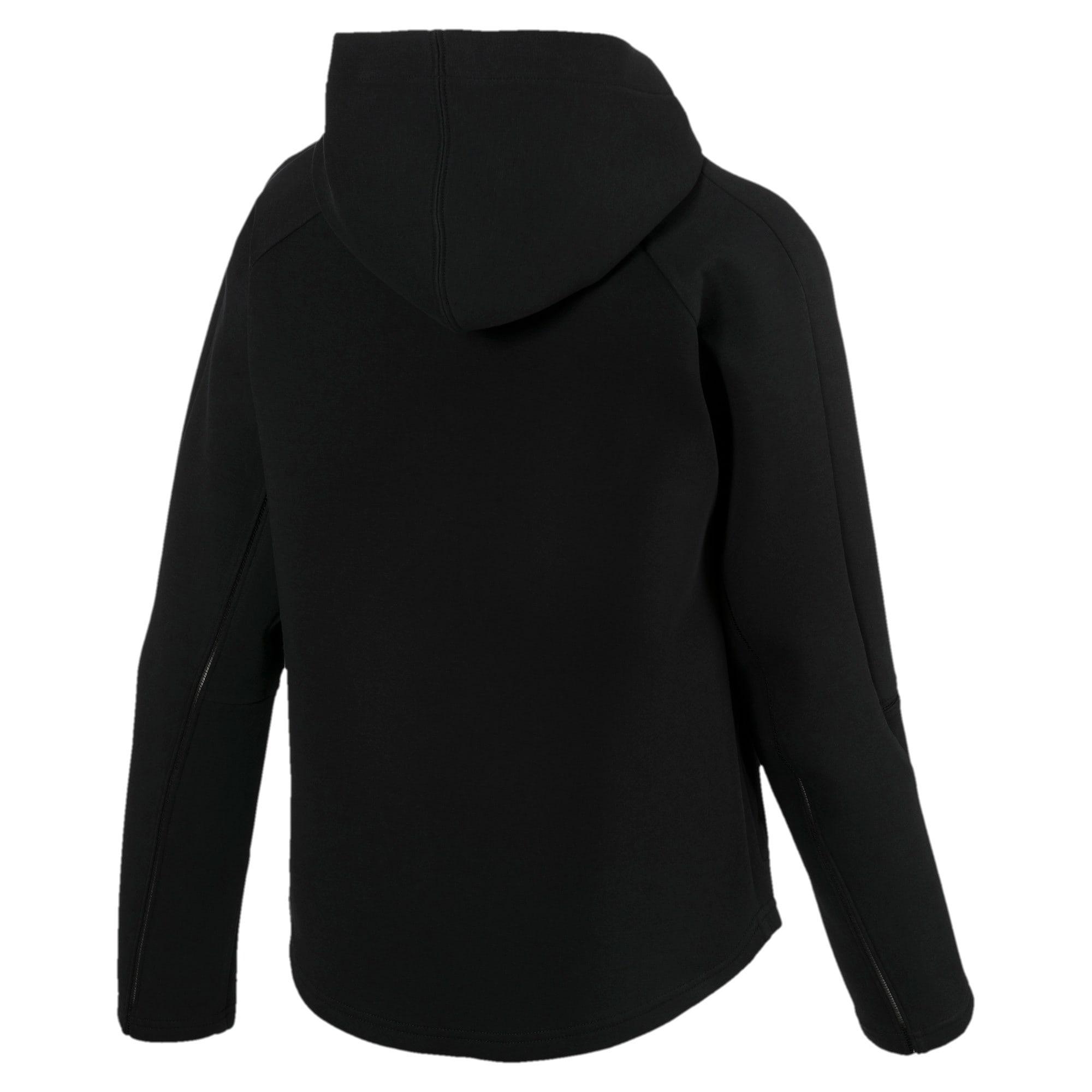 Thumbnail 5 of Evostripe Move Zip-Up Women's Hoodie, Cotton Black, medium