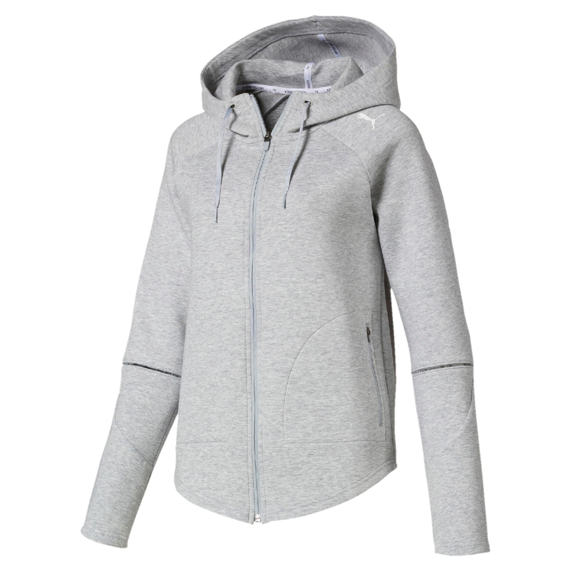 Thumbnail 4 van Evostripe Move hoodie met rits voor vrouwen, Light Gray Heather, medium